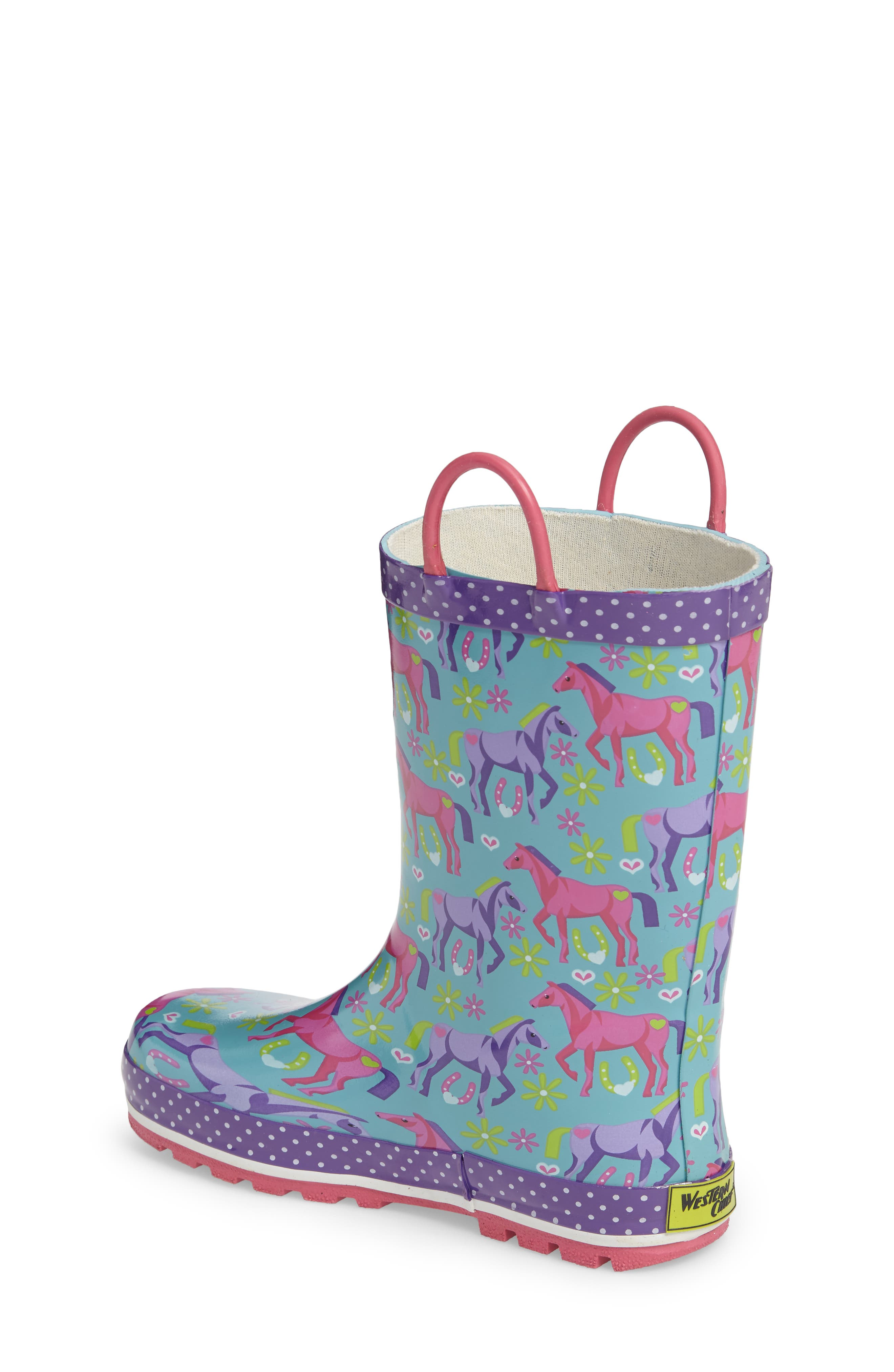 Alternate Image 2  - Western Chief Hannah Horse Rain Boot (Toddler, Little Kid & Big Kid)