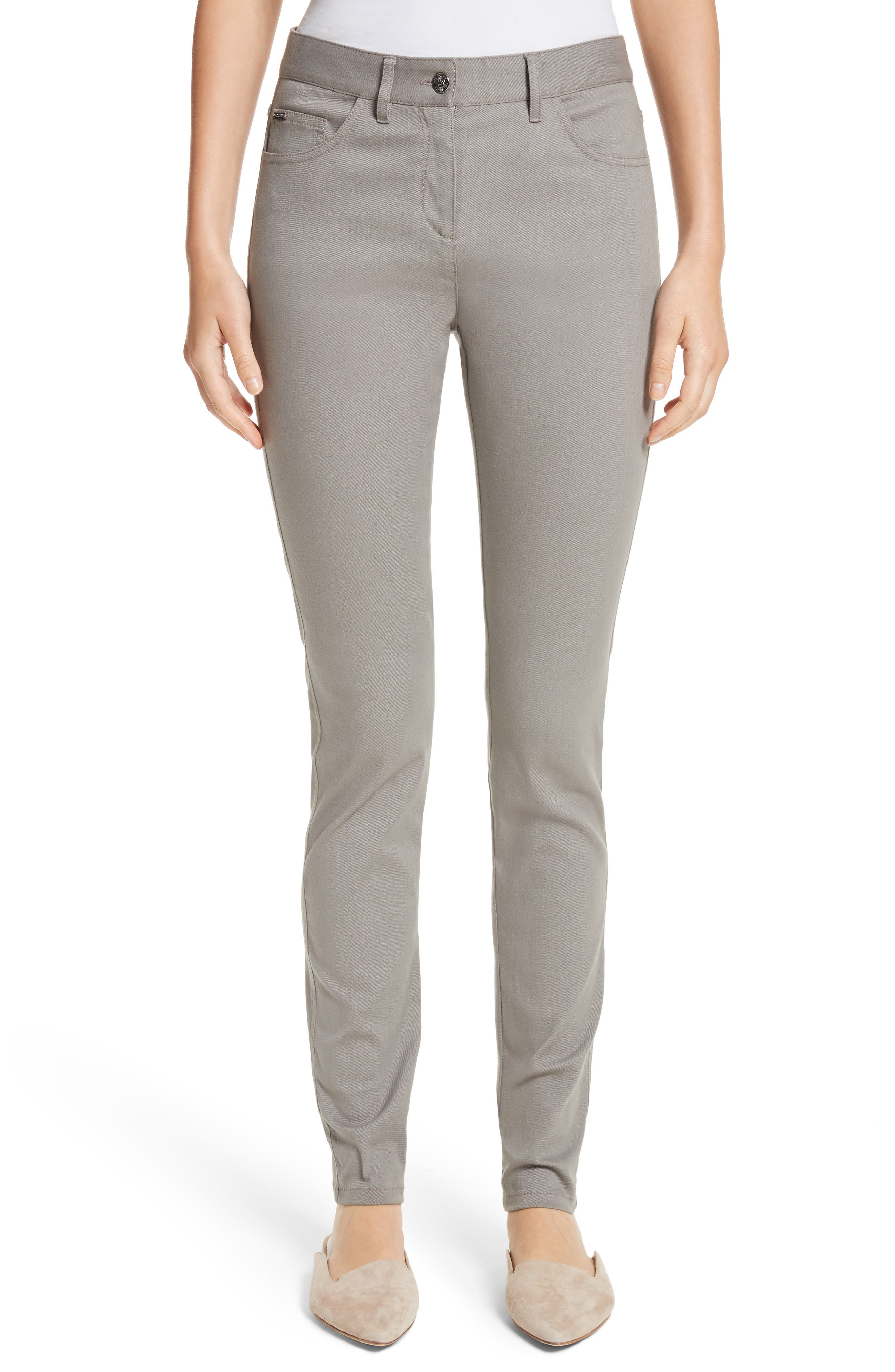 Bardot Double Dye Stretch Jeans,                         Main,                         color, Travertine