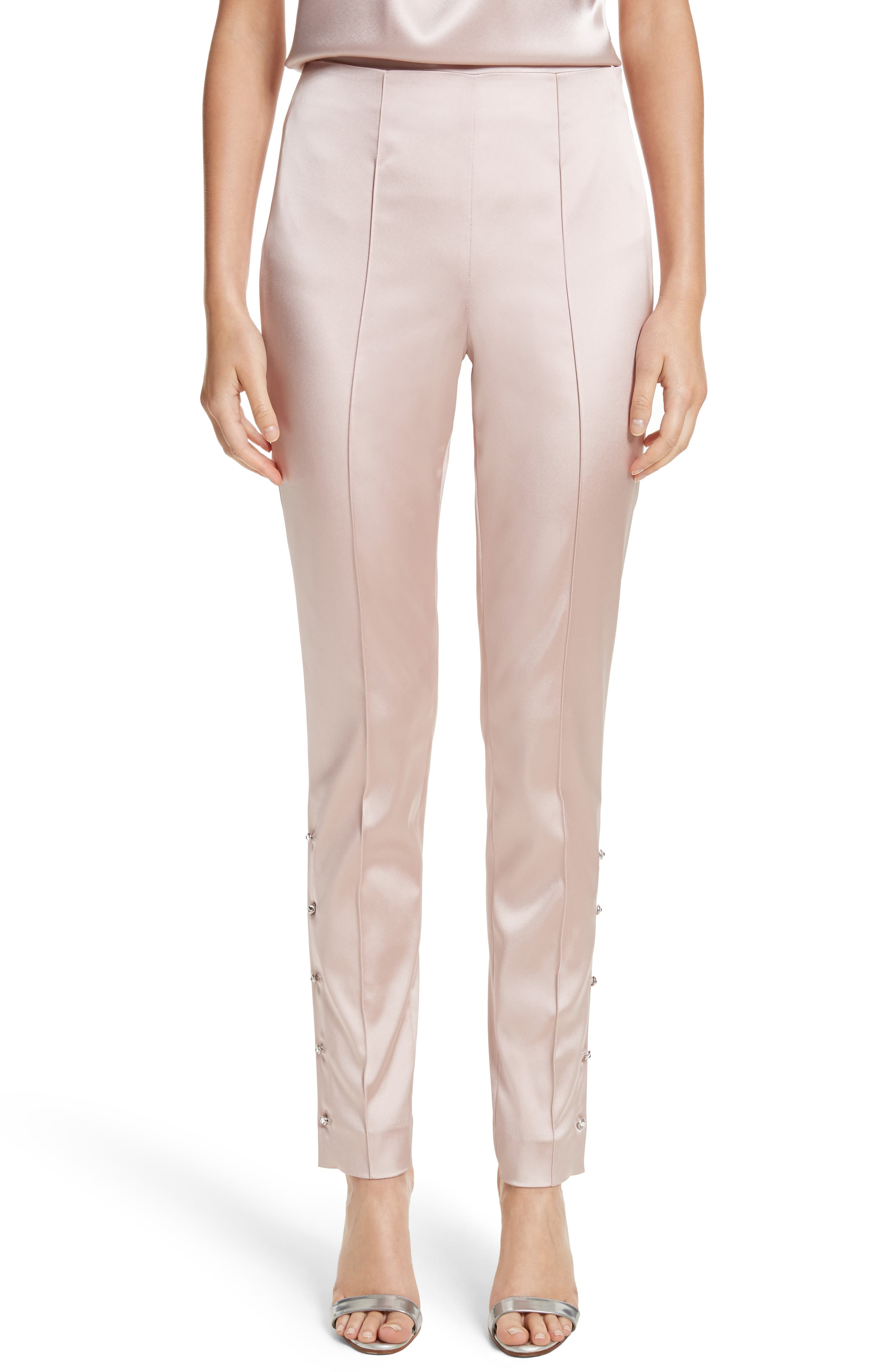 Alternate Image 1 Selected - St. John Collection Stretch Satin Ankle Pants
