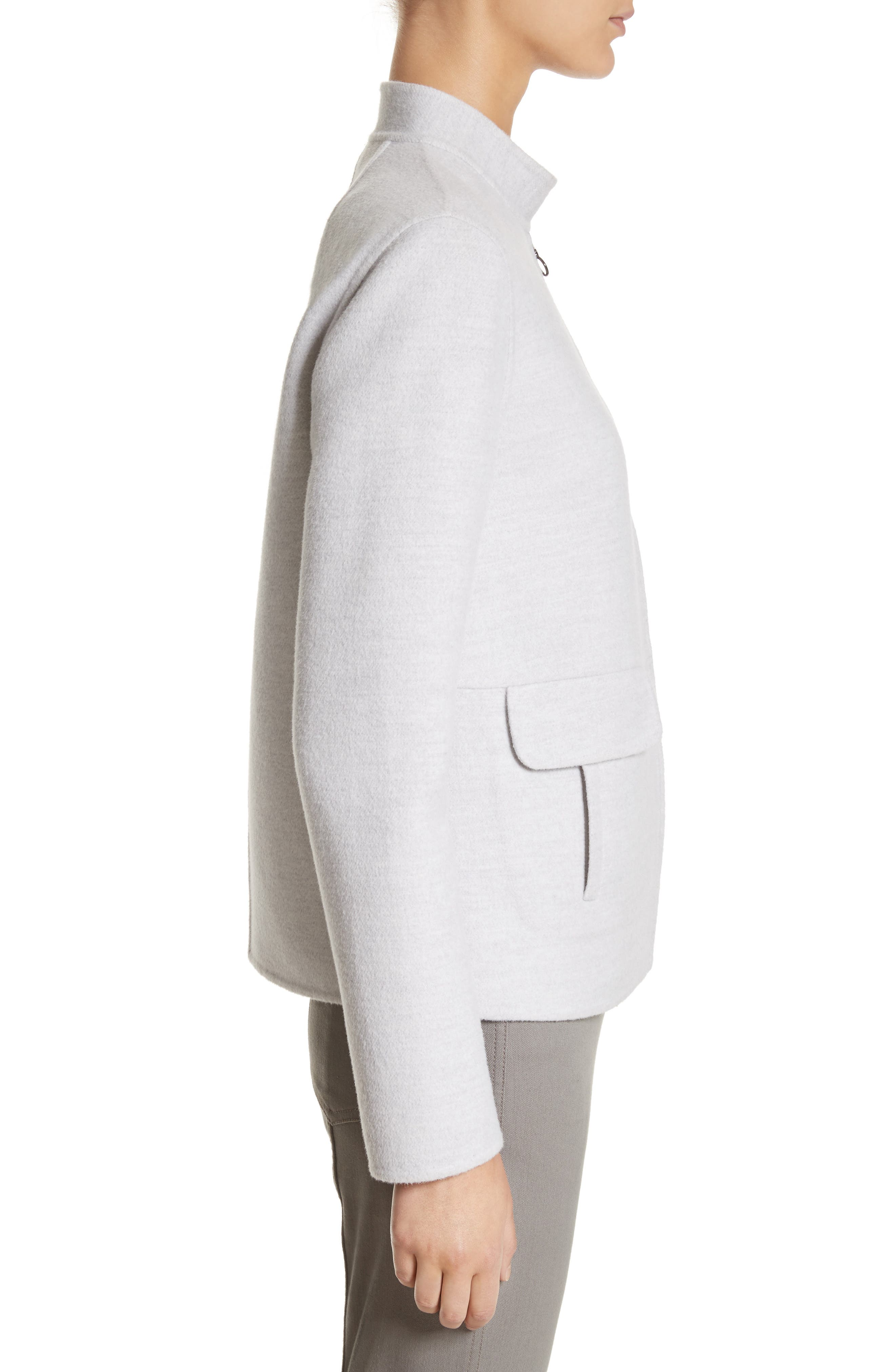 Alternate Image 3  - St. John Collection Nehru Collar Double Face Jacket