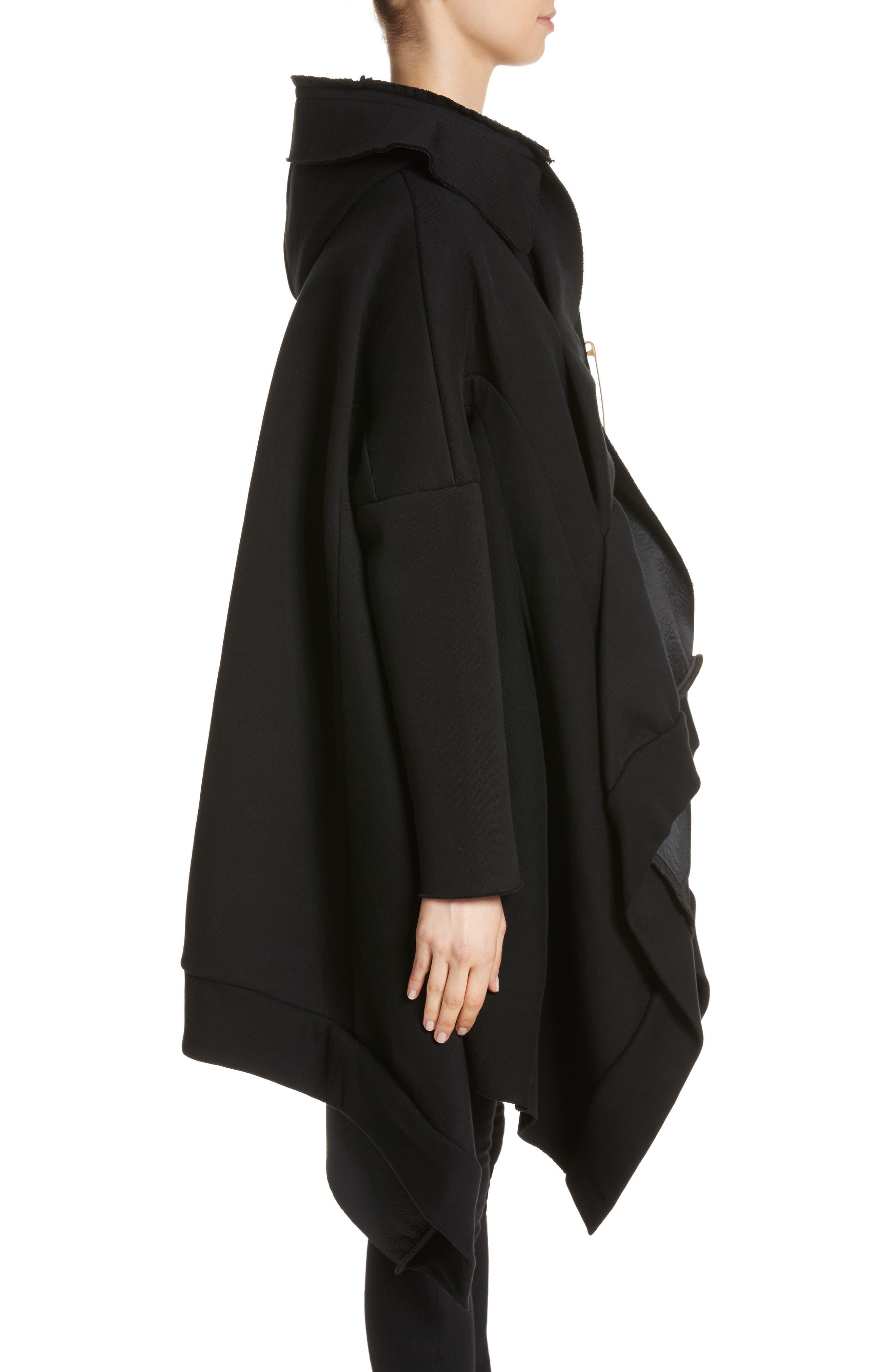 Hooded Coat,                             Alternate thumbnail 3, color,                             Black