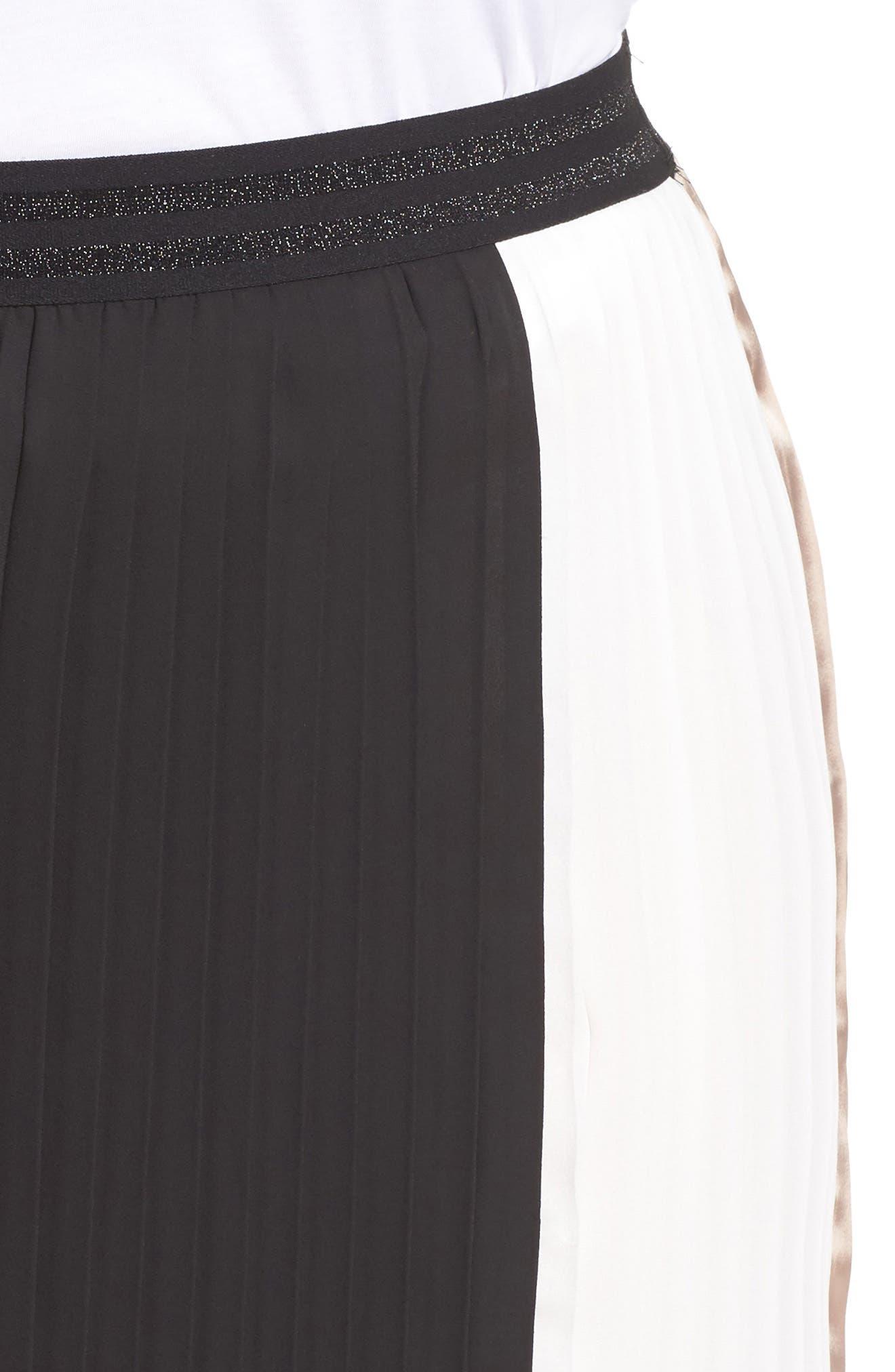 Alternate Image 4  - ELVI Colorblock Pleat Skirt (Plus Size)