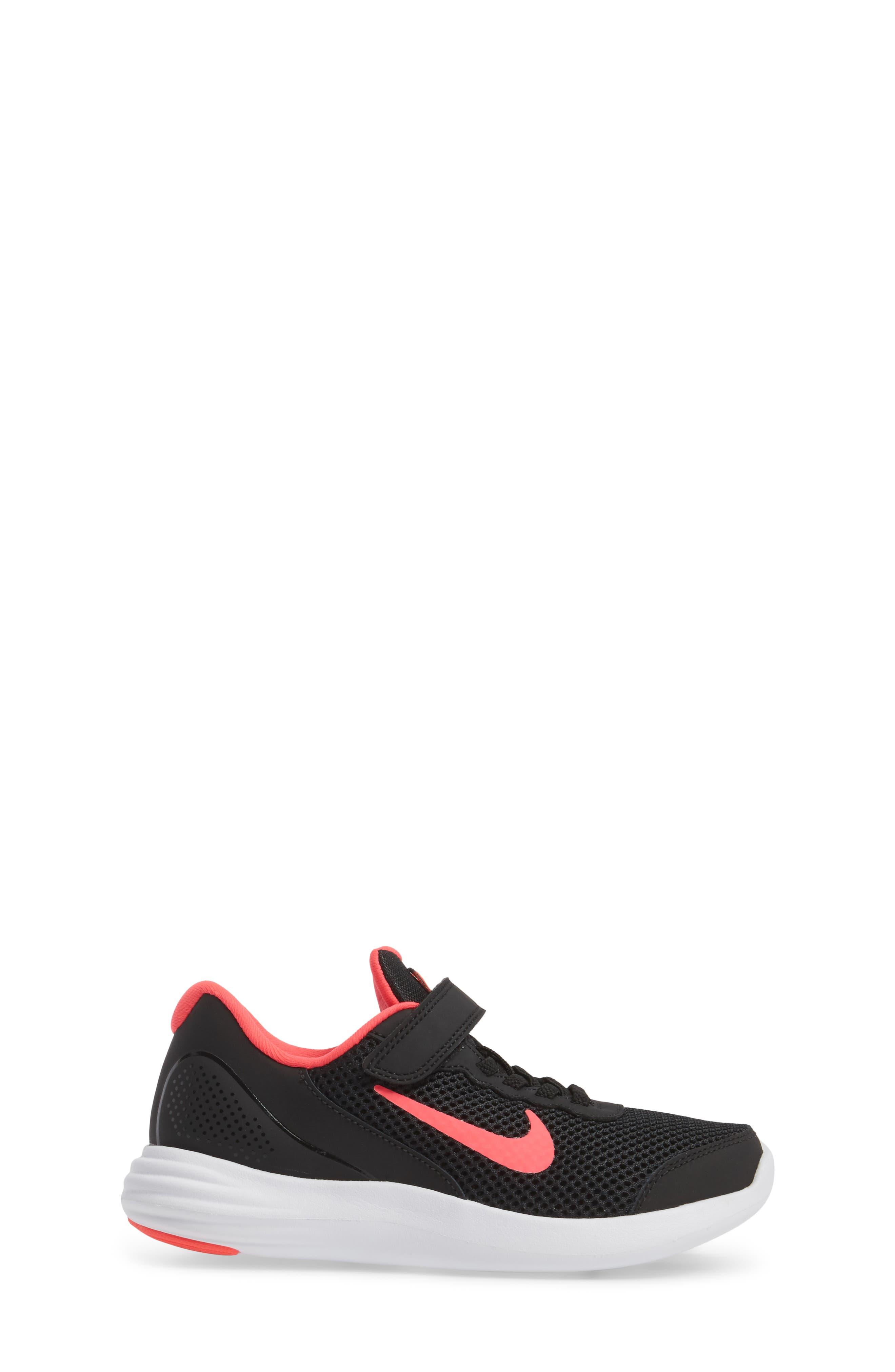 Lunar Apparent Sneaker,                             Alternate thumbnail 3, color,                             Black/ Racer Pink/ White