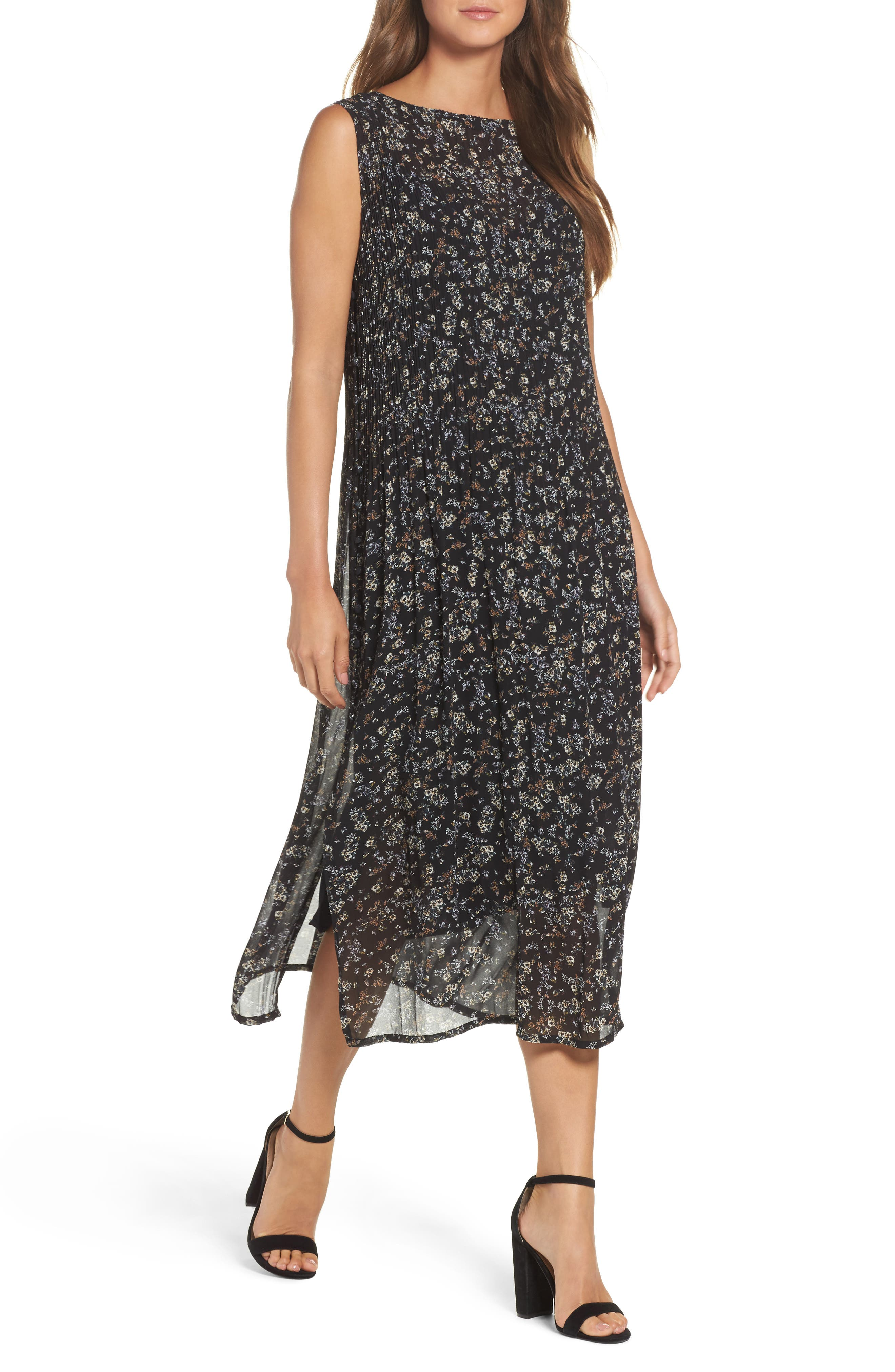 About A Girl Slipdress,                         Main,                         color, Black Ditsy