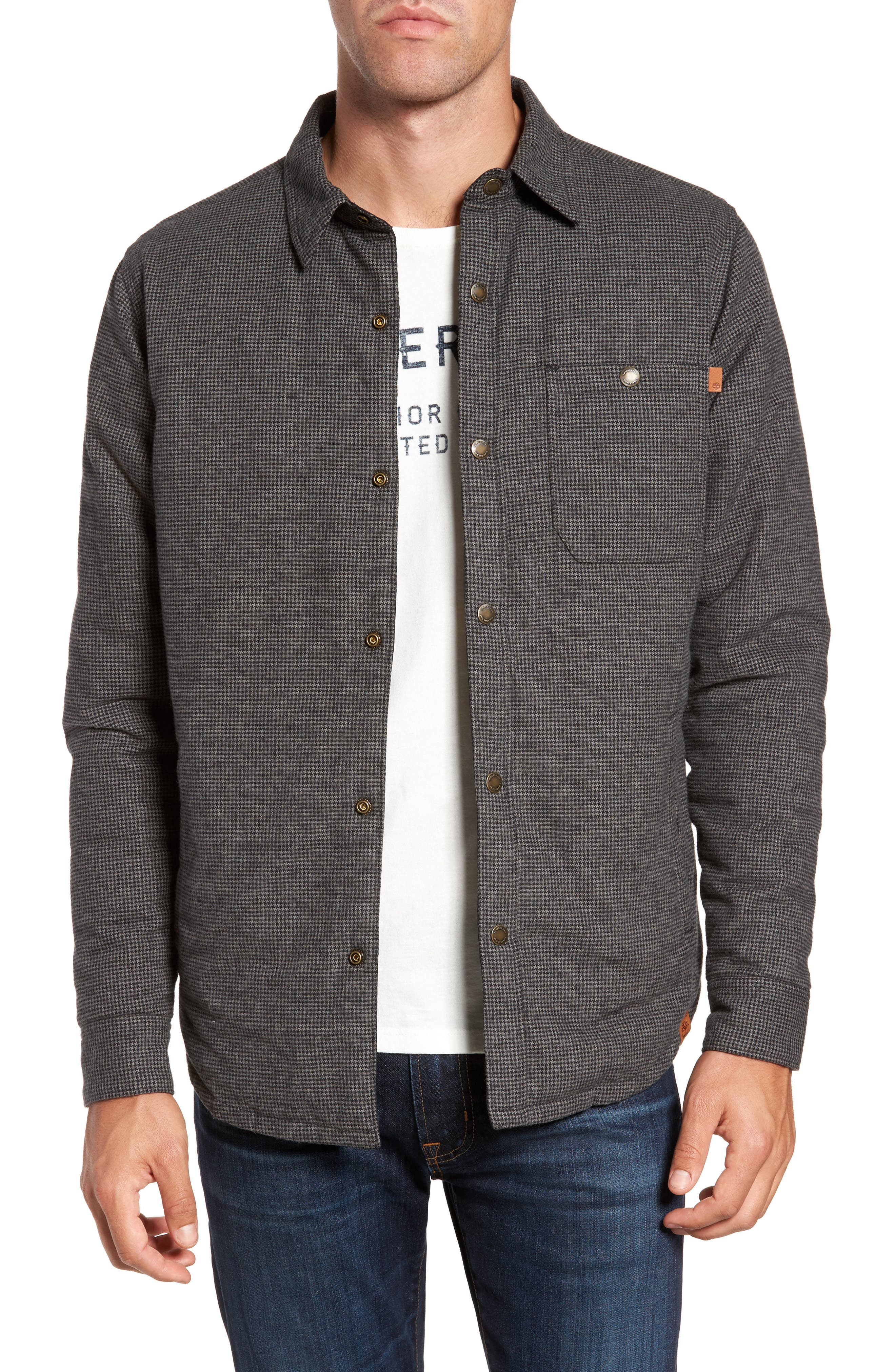 Alternate Image 1 Selected - Timberland Gunstock River Reversible Down Shirt Jacket