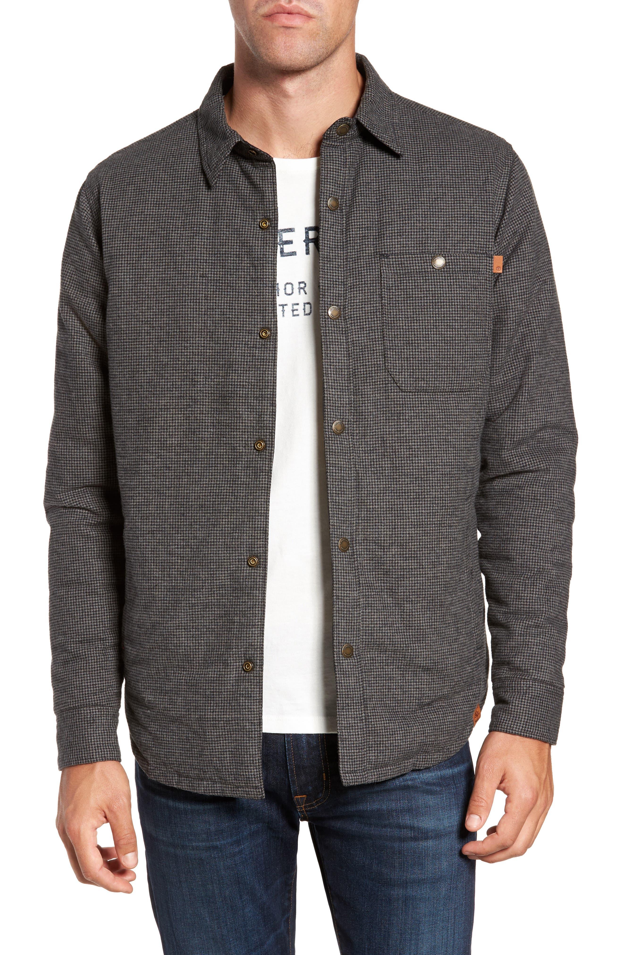 Gunstock River Reversible Down Shirt Jacket,                         Main,                         color, Black