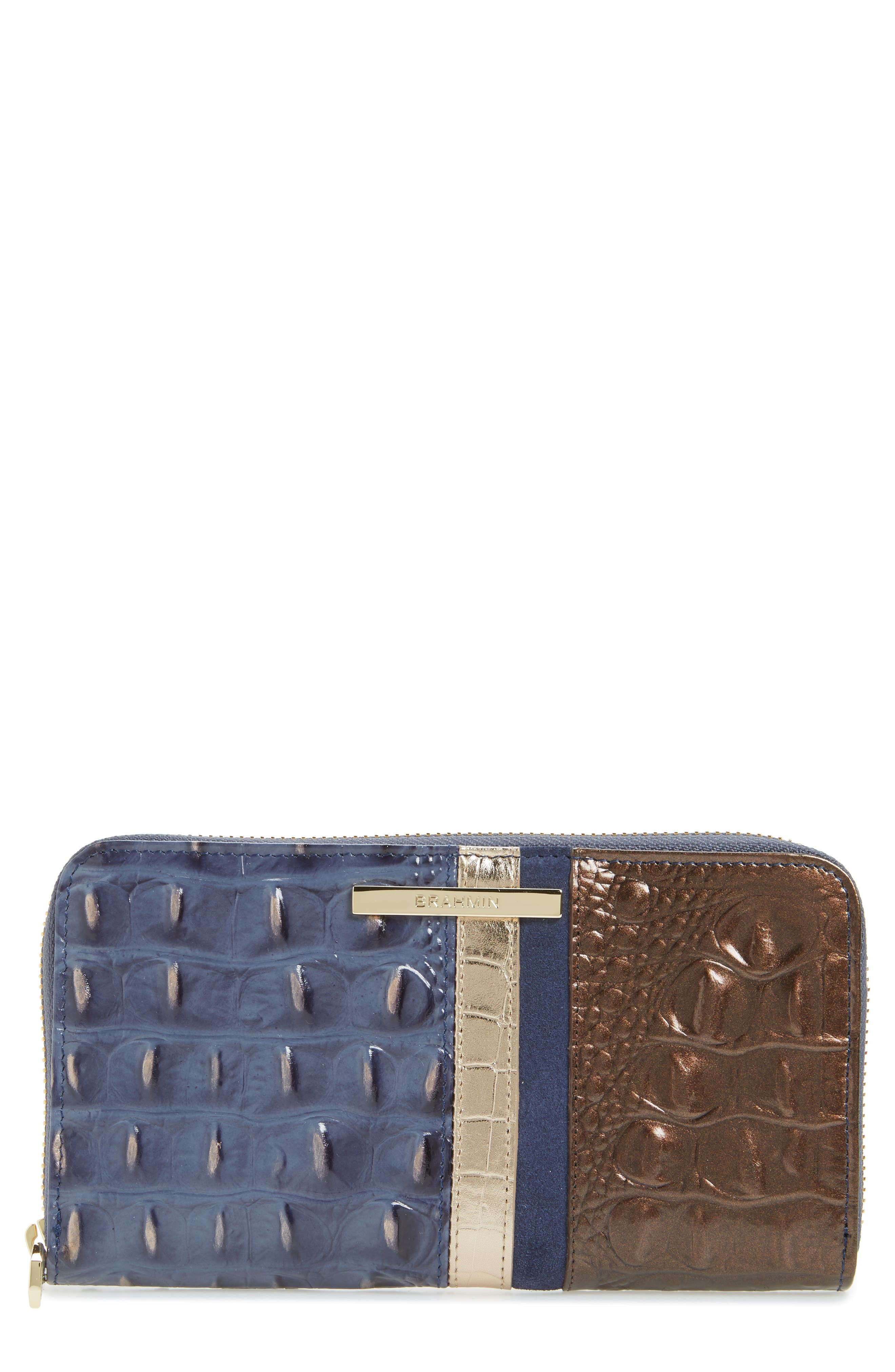 Brahmin Andesite Orba - Suri Zip Around Leather Wallet