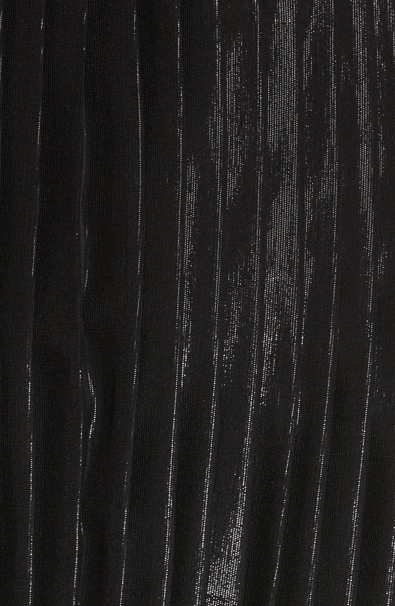 Alternate Image 5  - St. John Collection Pleated Chiffon Midi Dress