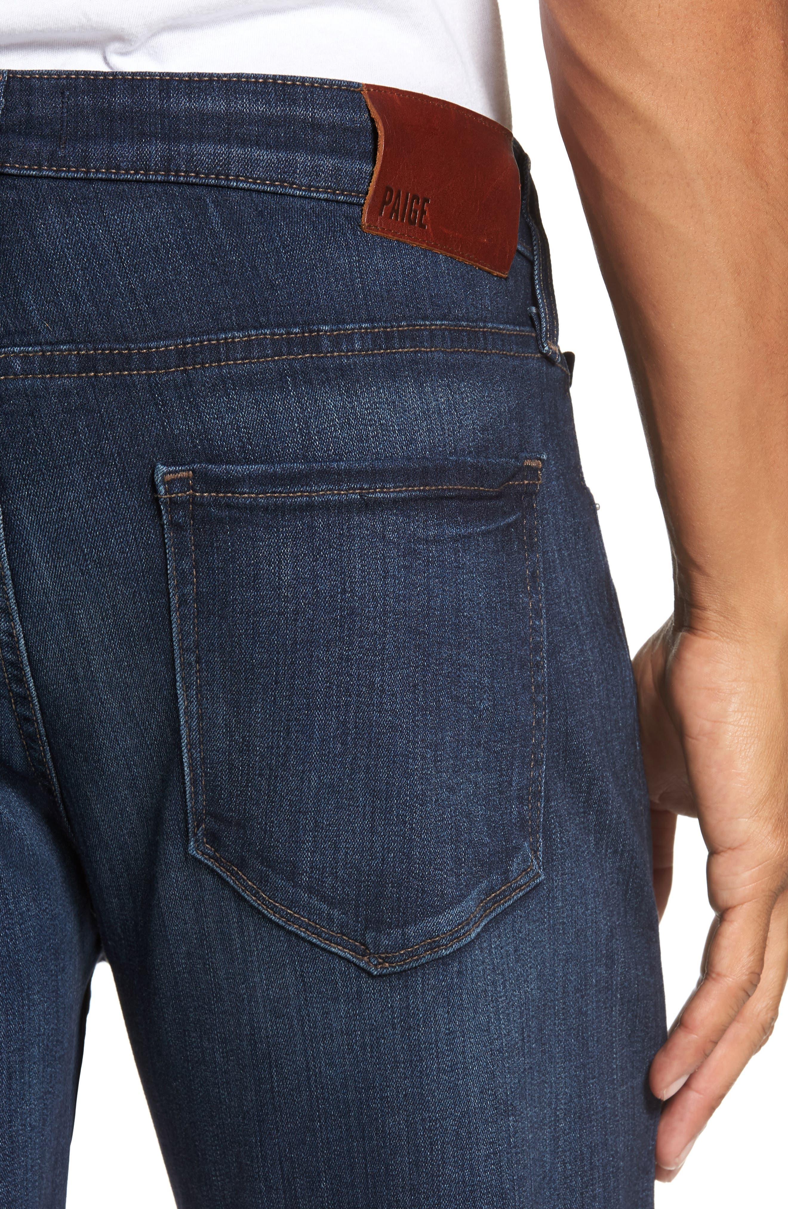 Alternate Image 4  - PAIGE Transcend - Federal Slim Straight Leg Jeans (Barron)