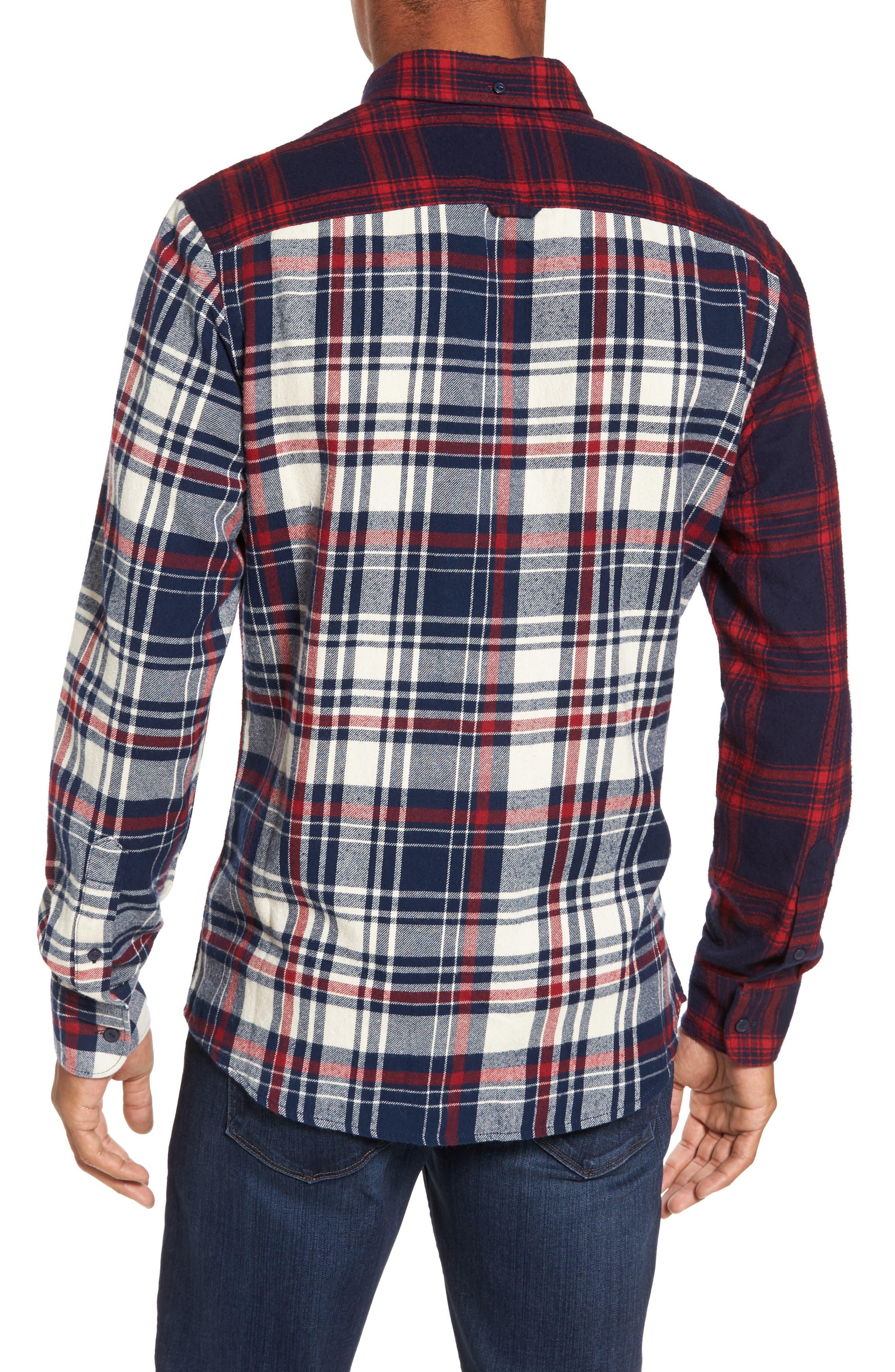 Alternate Image 2  - Nordstrom Men's Shop Trim Fit Patchwork Sport Shirt