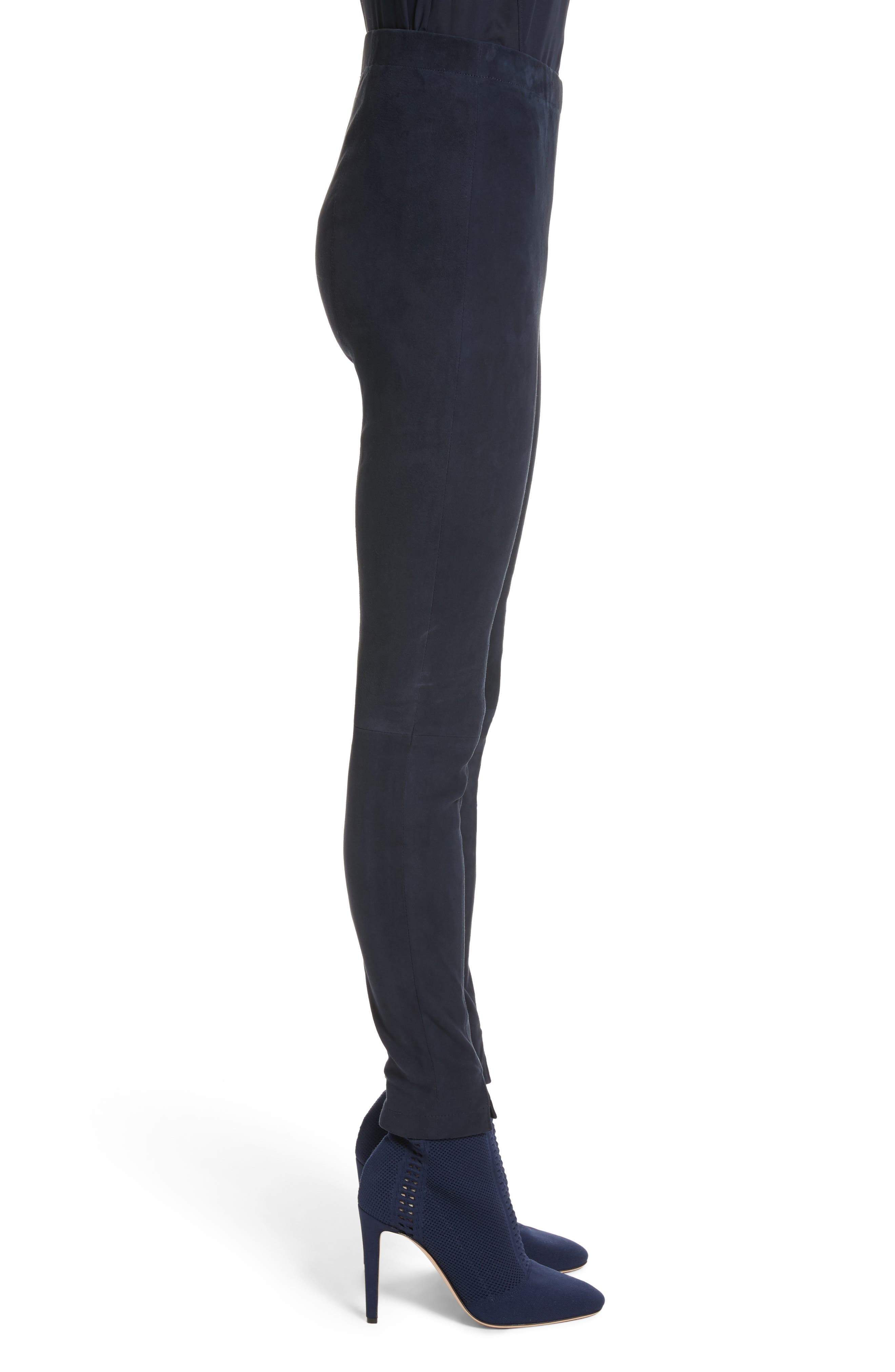 Alternate Image 3  - St. John Collection Stretch Suede Crop Leggings