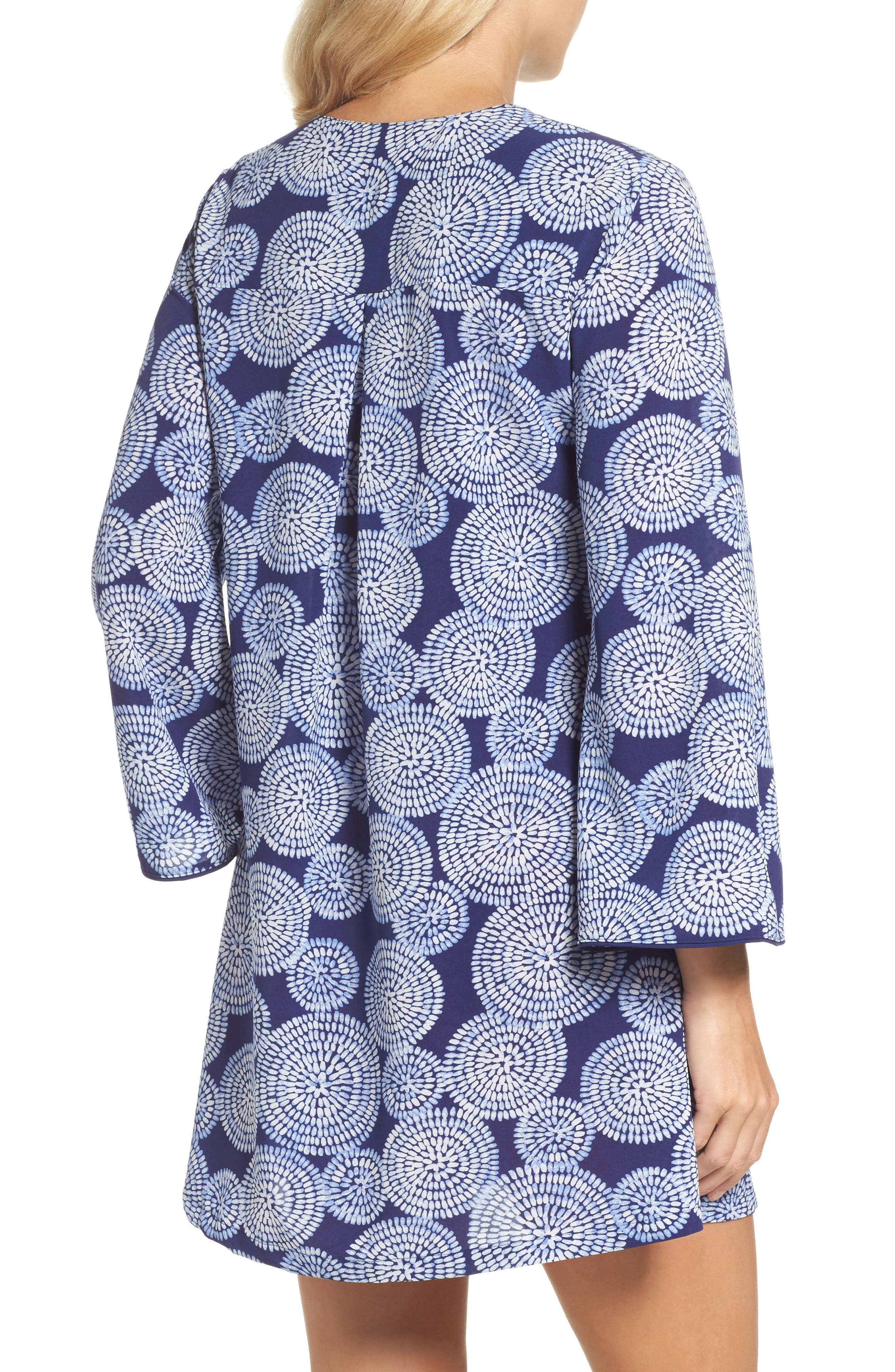 Sleepwear Halftan Short Nightgown,                             Alternate thumbnail 2, color,                             Eclipse Print