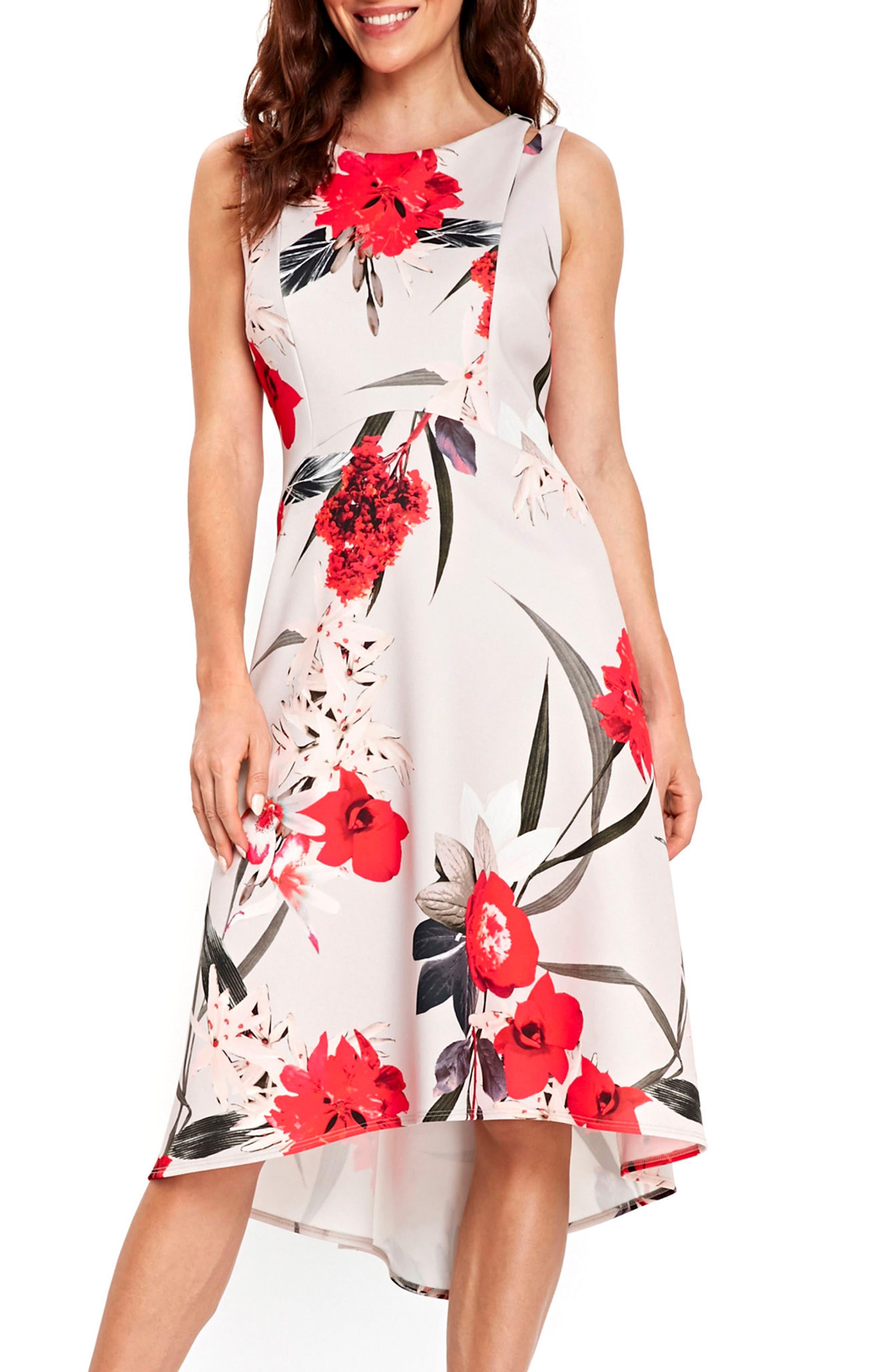 Alternate Image 1 Selected - Wallis Sahara Bloom High/Low Dress
