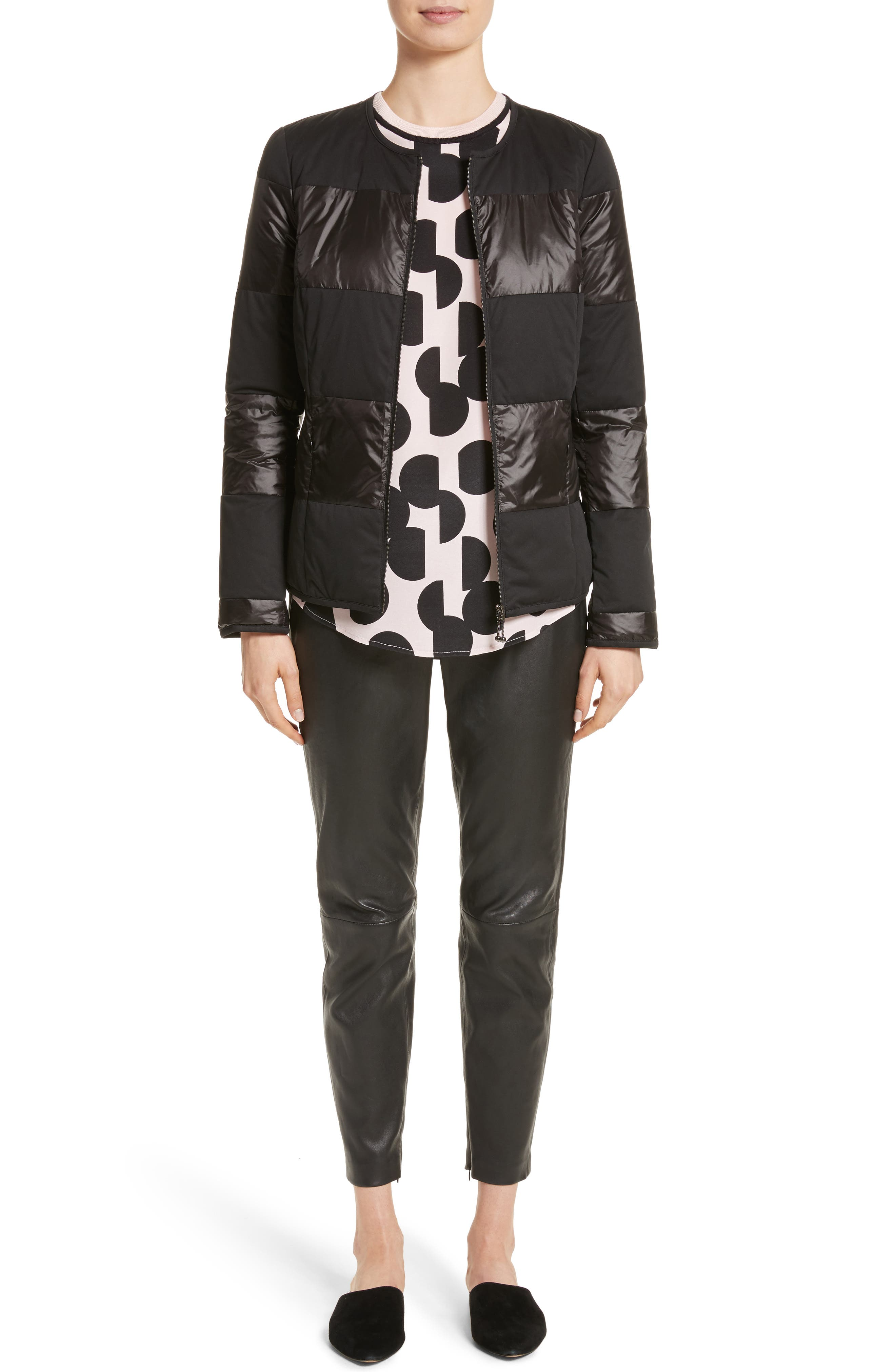Alternate Image 12  - St. John Collection Stretch Nappa Leather Crop Pants