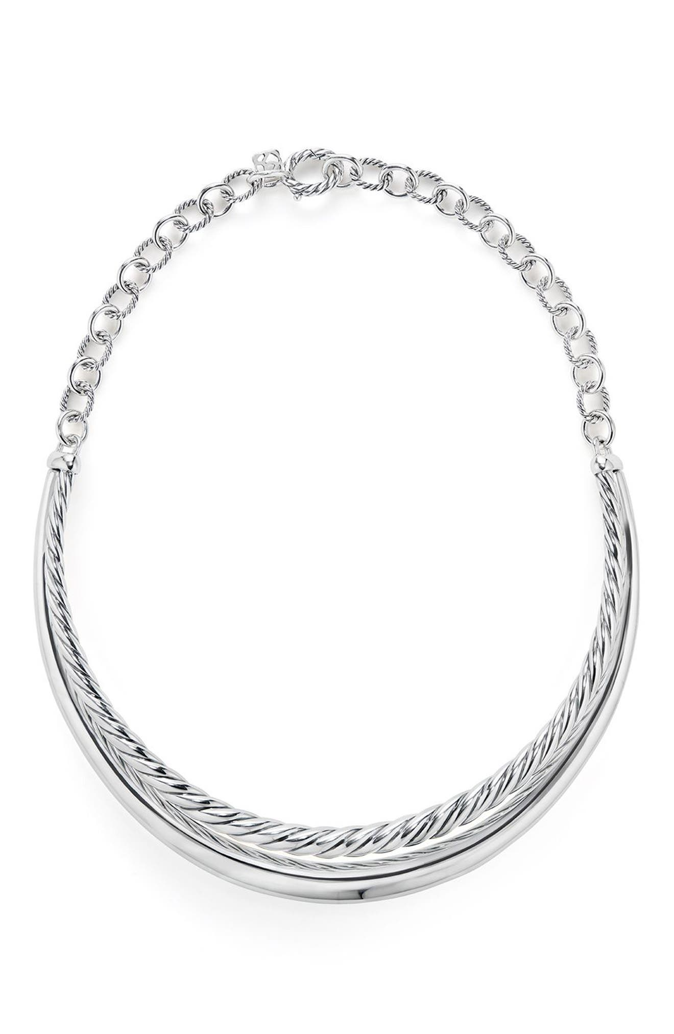 Pure Form Collar Necklace,                             Main thumbnail 1, color,                             Silver