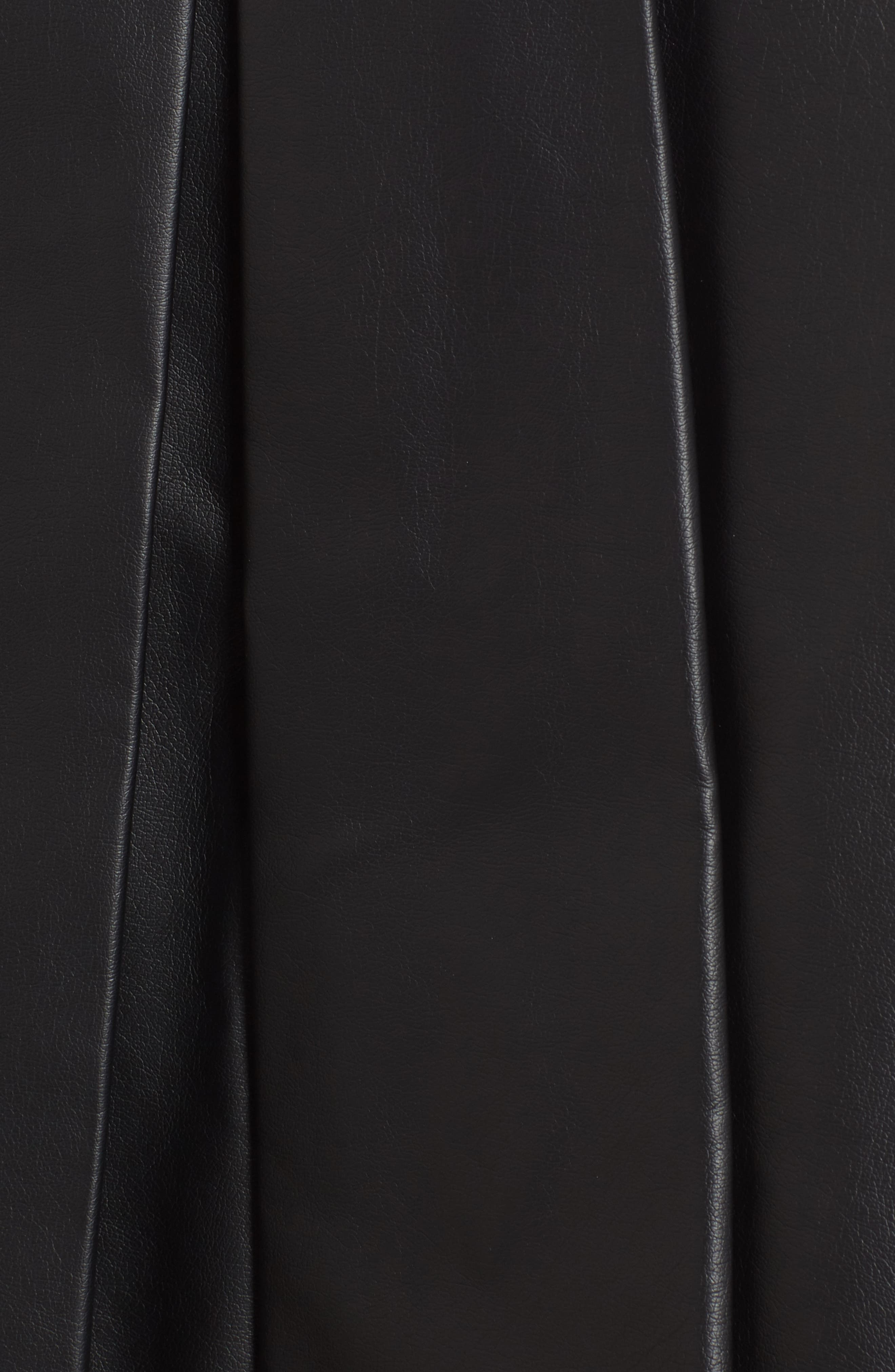 Alternate Image 5  - MICHAEL Michael Kors Pleat Faux Leather Skirt
