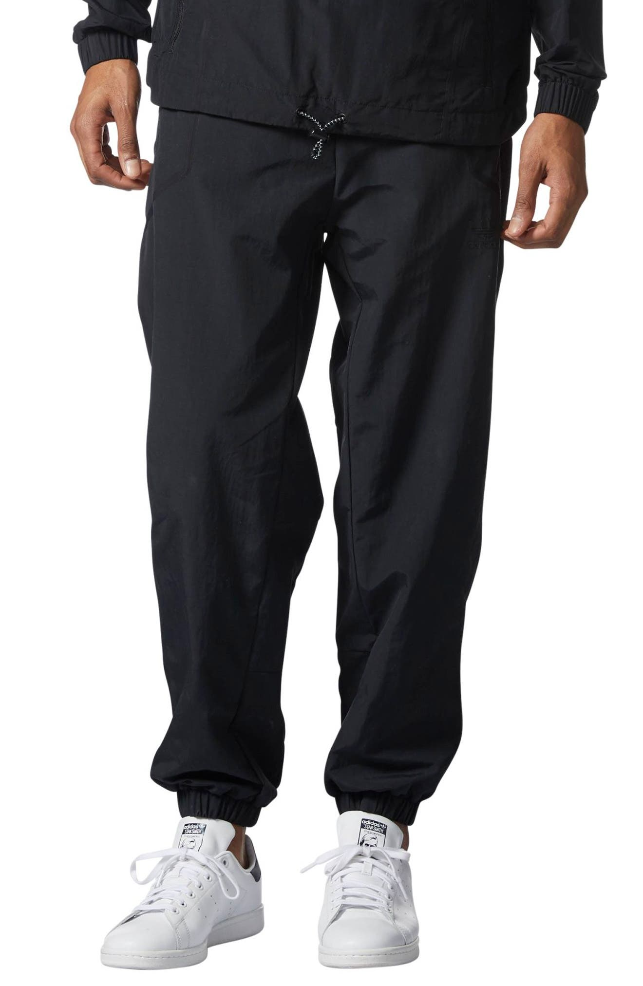 Originals Taped Wind Pants,                             Main thumbnail 1, color,                             Black