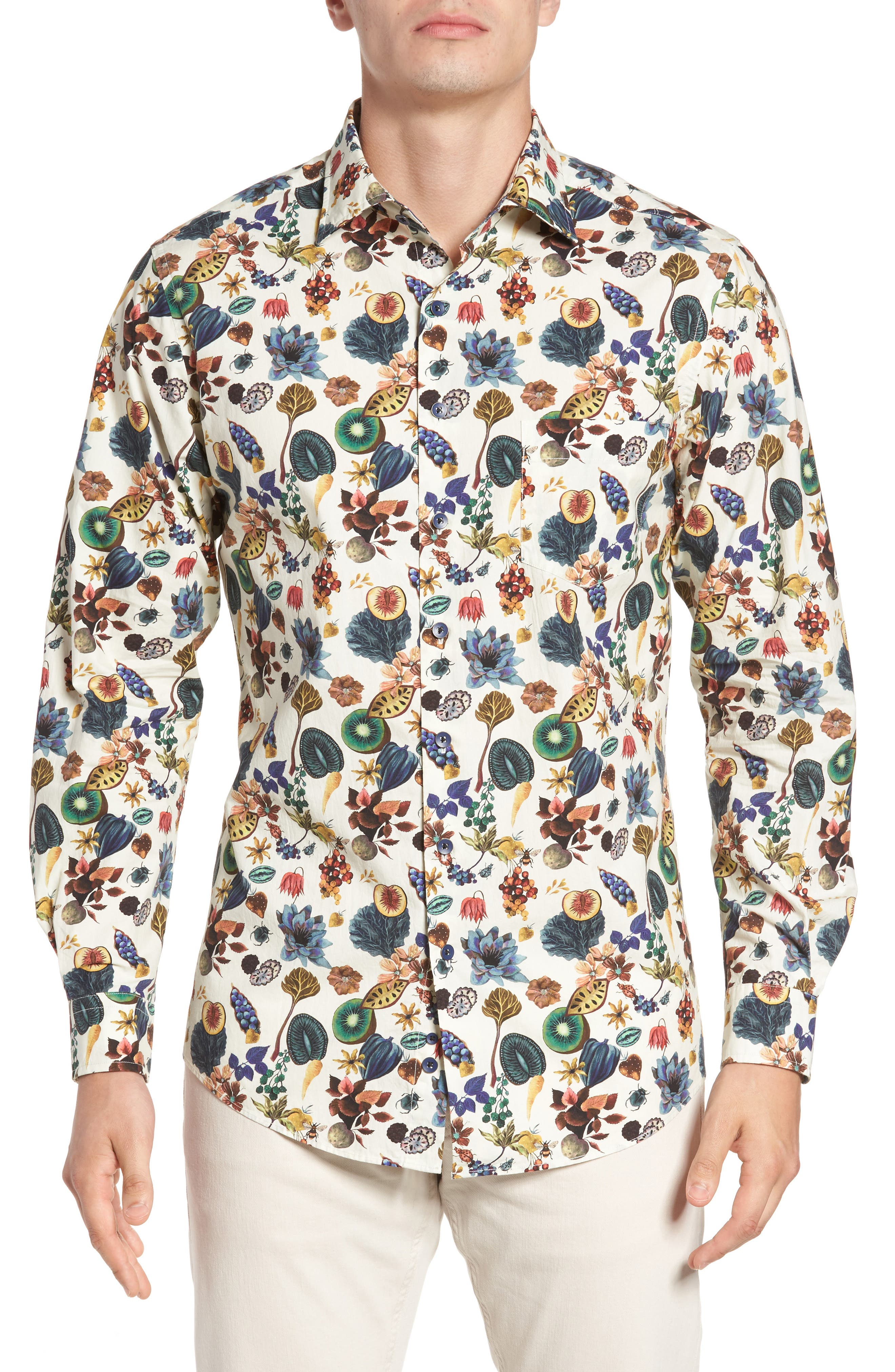 Aldamere Sports Fit Sport Shirt,                             Main thumbnail 1, color,                             Botanical