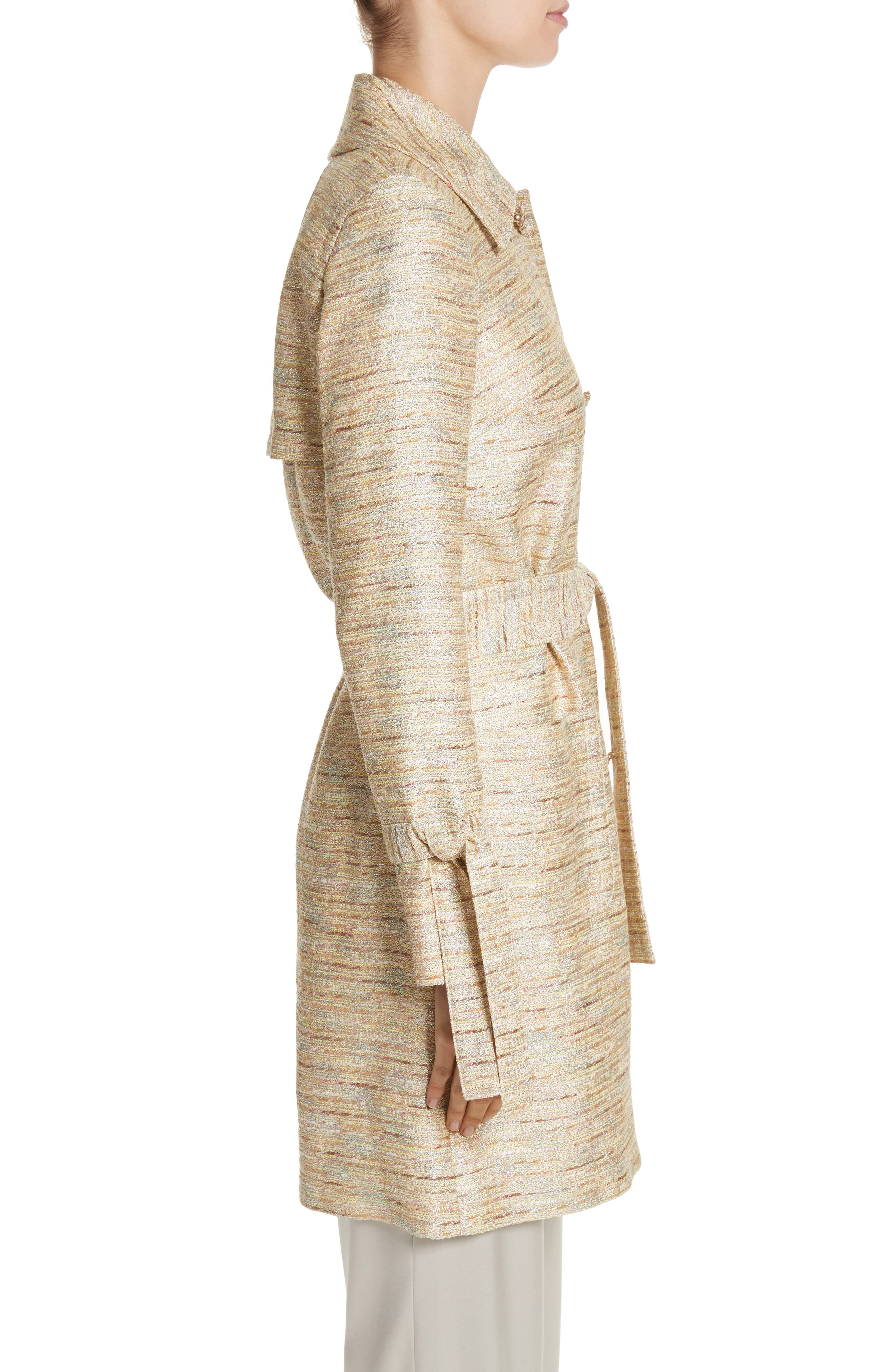 Alternate Image 3  - St. John Collection Metallic Tweed Coat