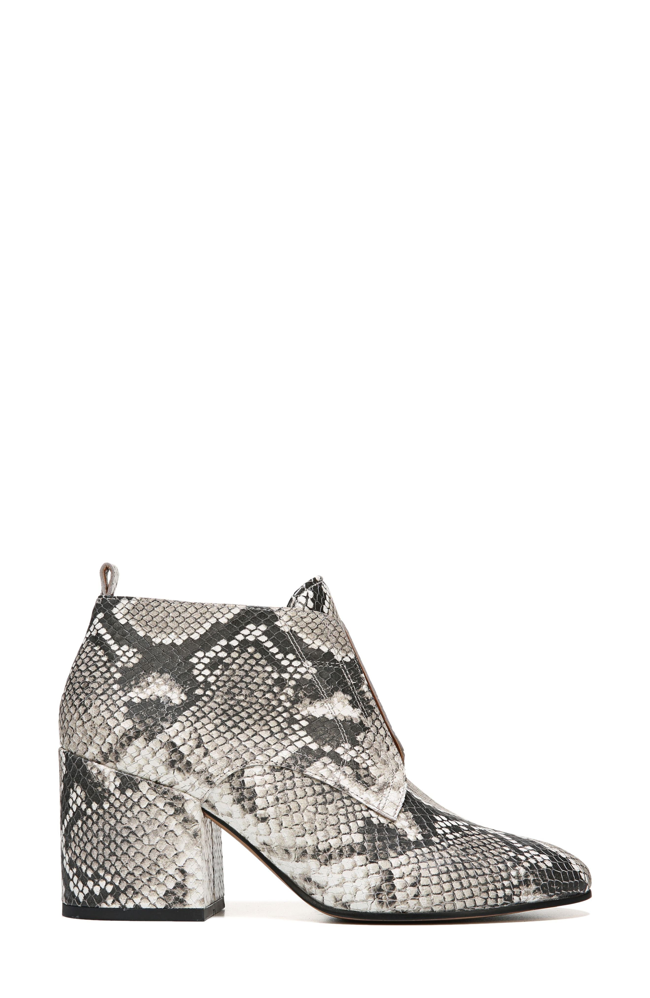 Alfie Bootie,                             Alternate thumbnail 3, color,                             Natural Snake Leather