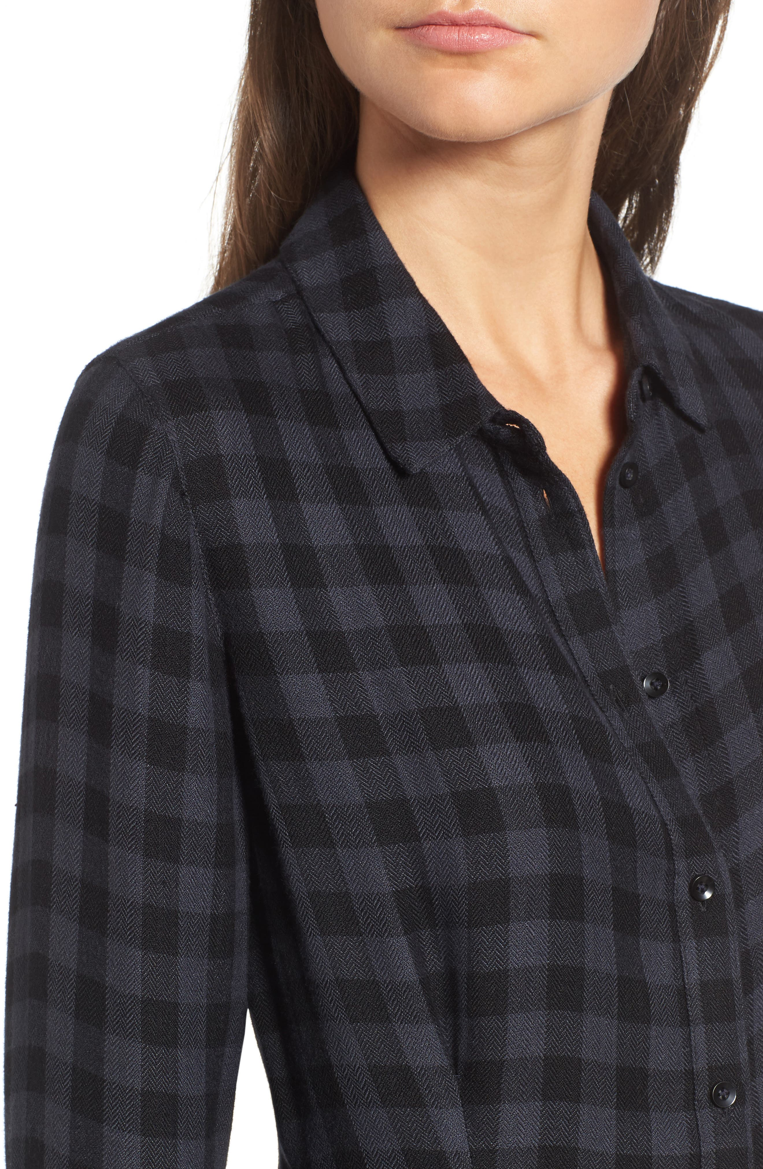 Alternate Image 4  - Treasure & Bond Plaid Corset Shirt