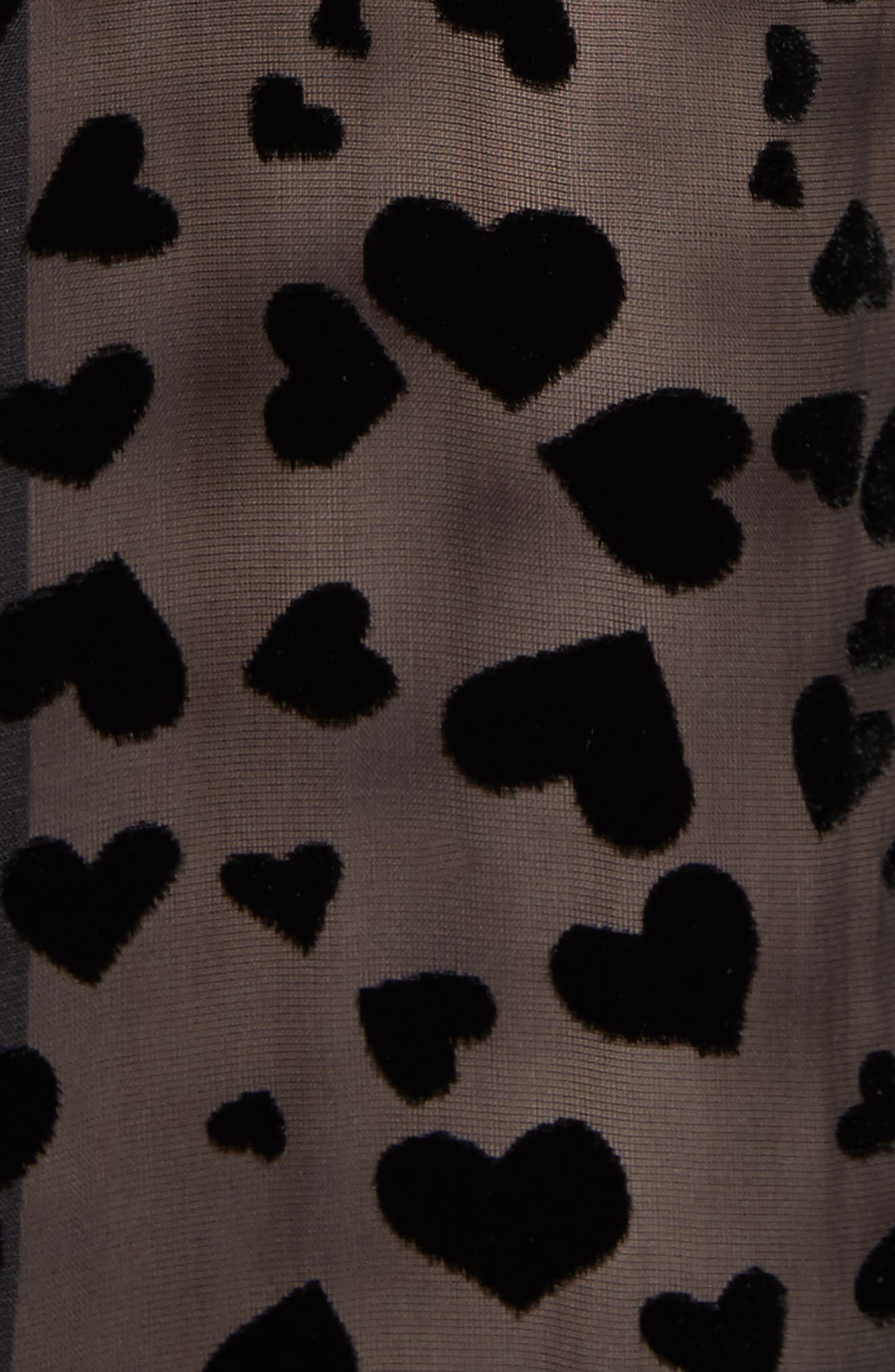 Essential Velvet Burnout Shirt,                             Alternate thumbnail 5, color,                             True Black