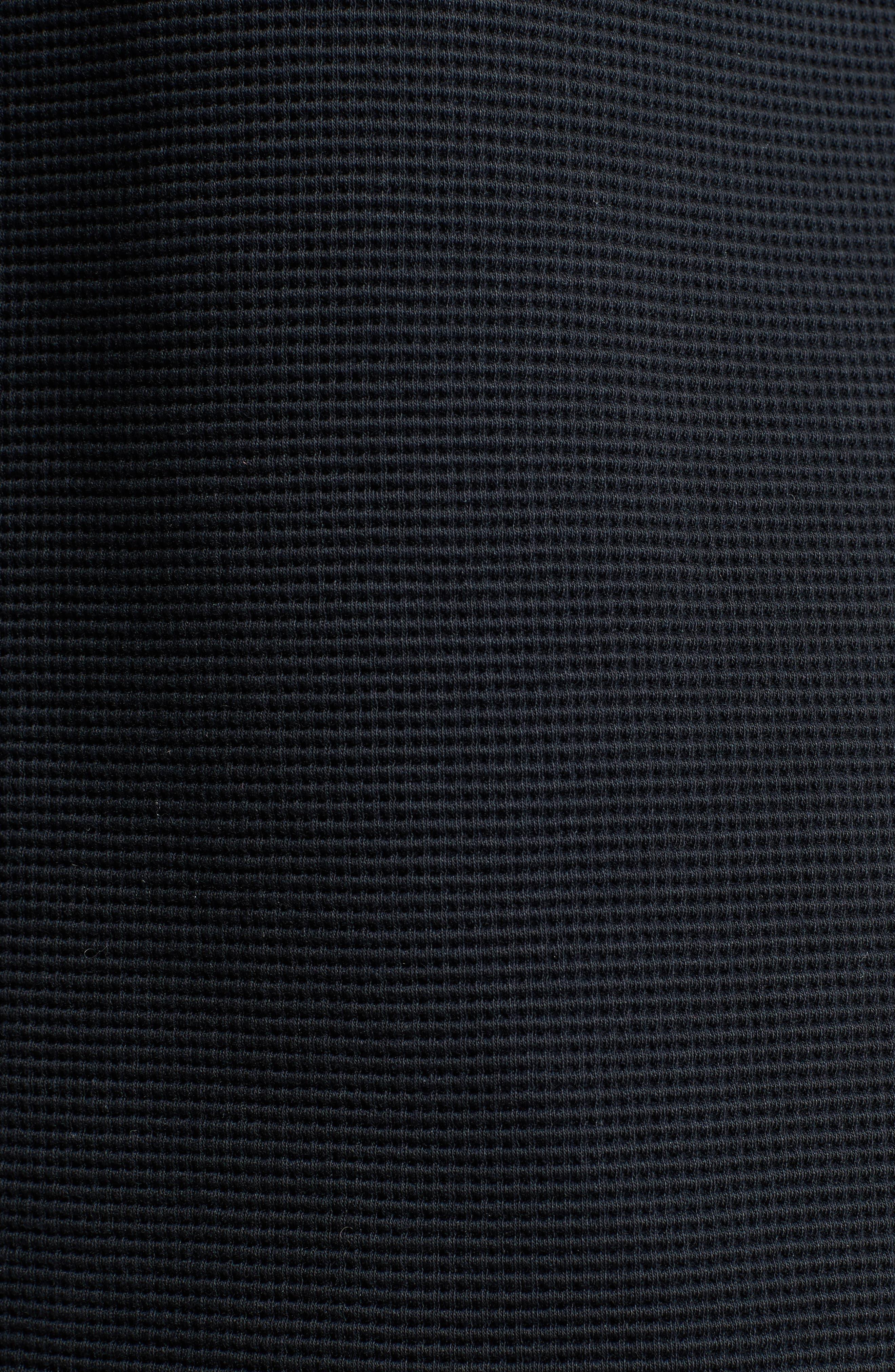 Fisherman Crewneck Sweatshirt,                             Alternate thumbnail 5, color,                             Black