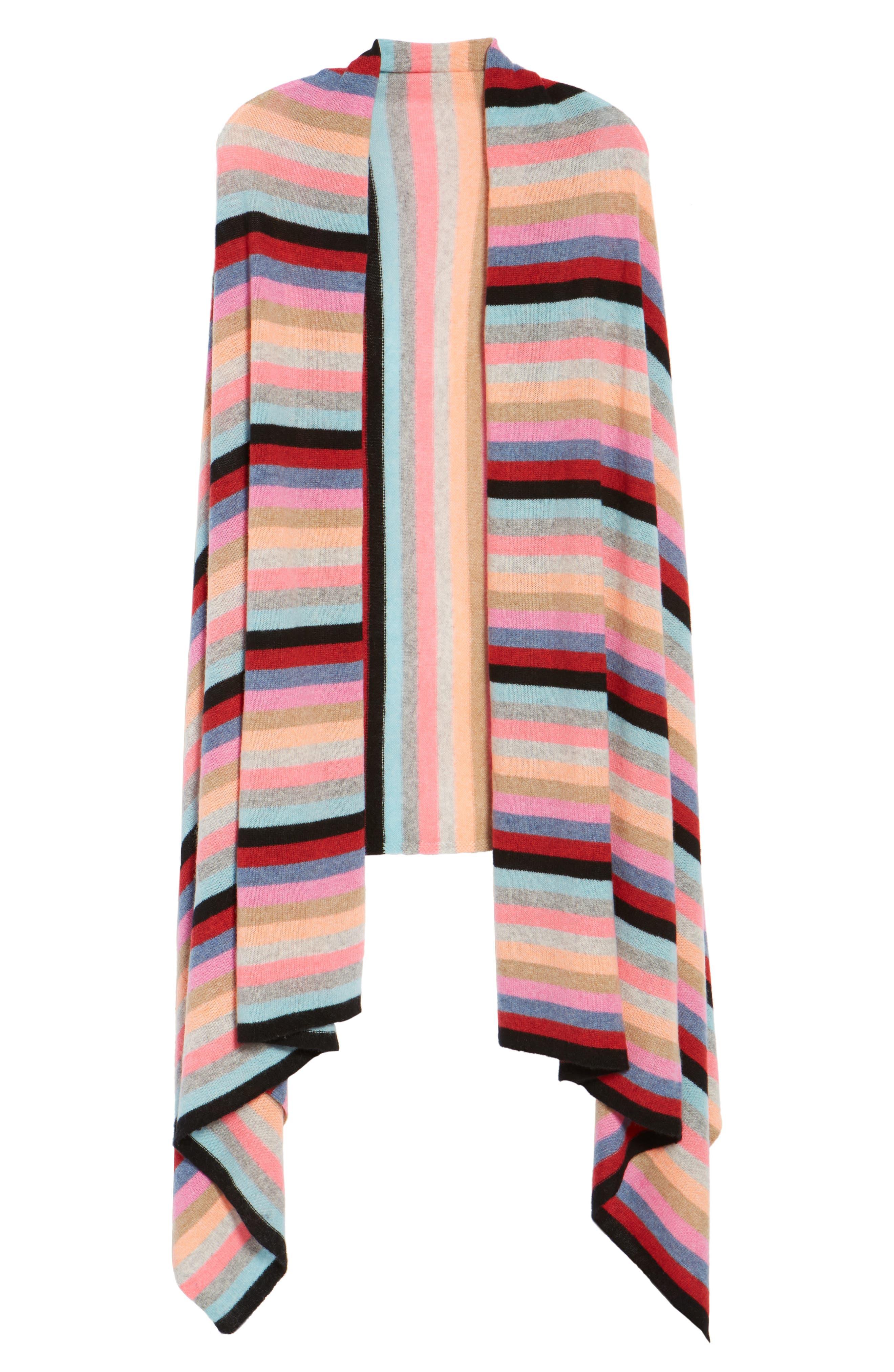Alternate Image 5  - White + Warren Travel Stripe Cashmere Wrap