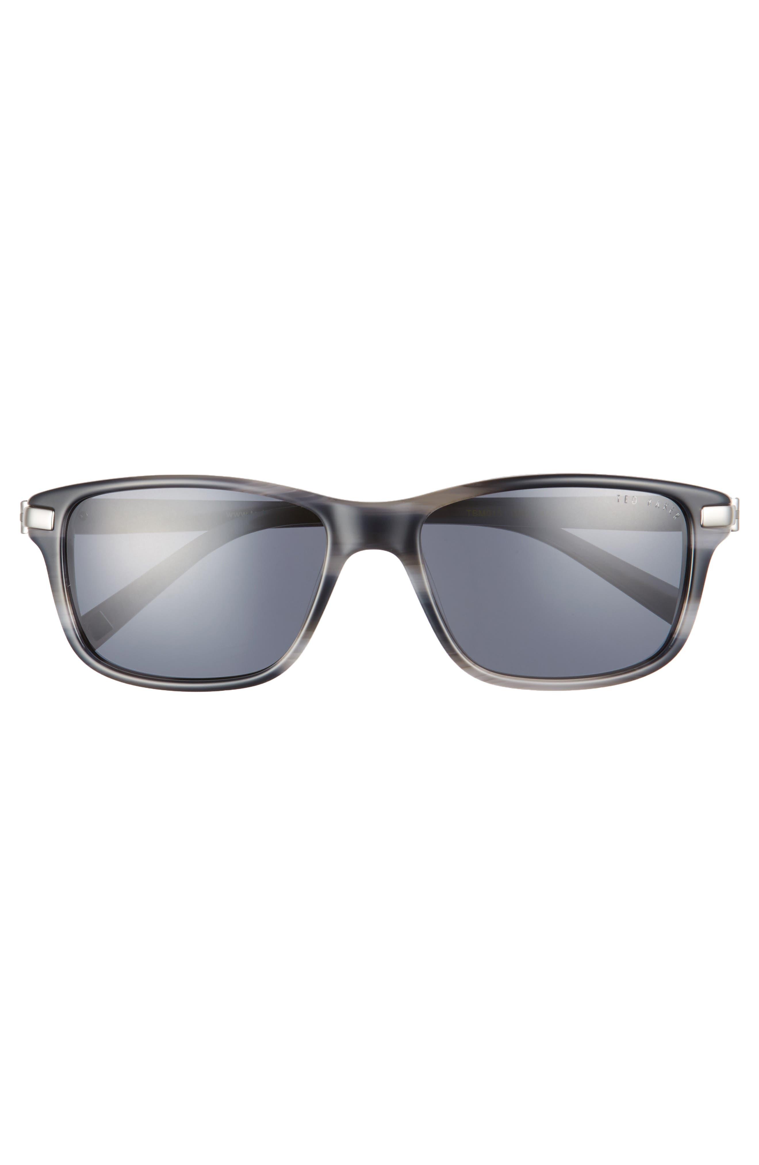 55mm Polarized Sunglasses,                             Alternate thumbnail 2, color,                             Grey