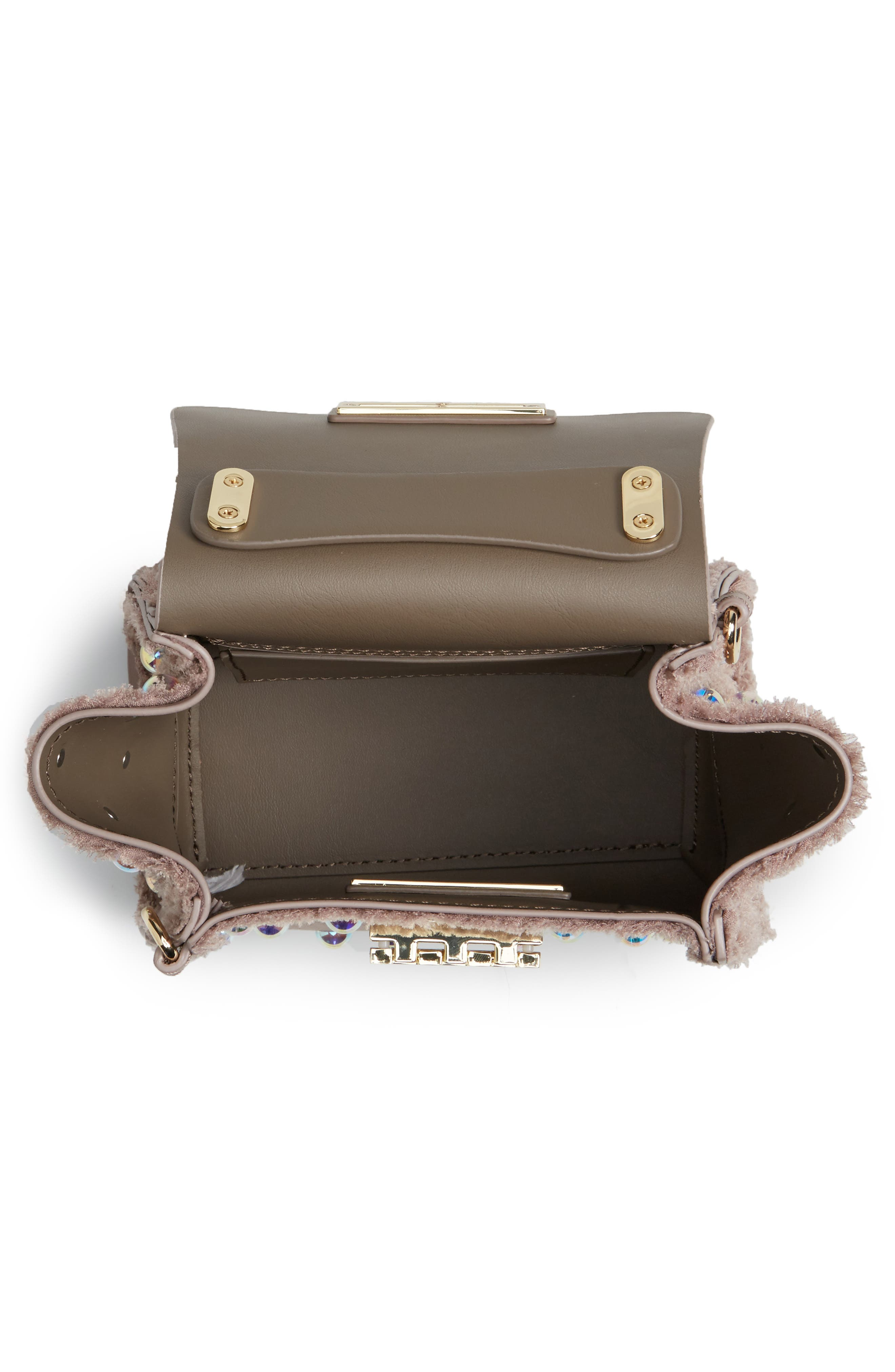 Alternate Image 4  - ZAC Zac Posen Mini Eartha Embellished Top Handle Calfskin Leather Satchel