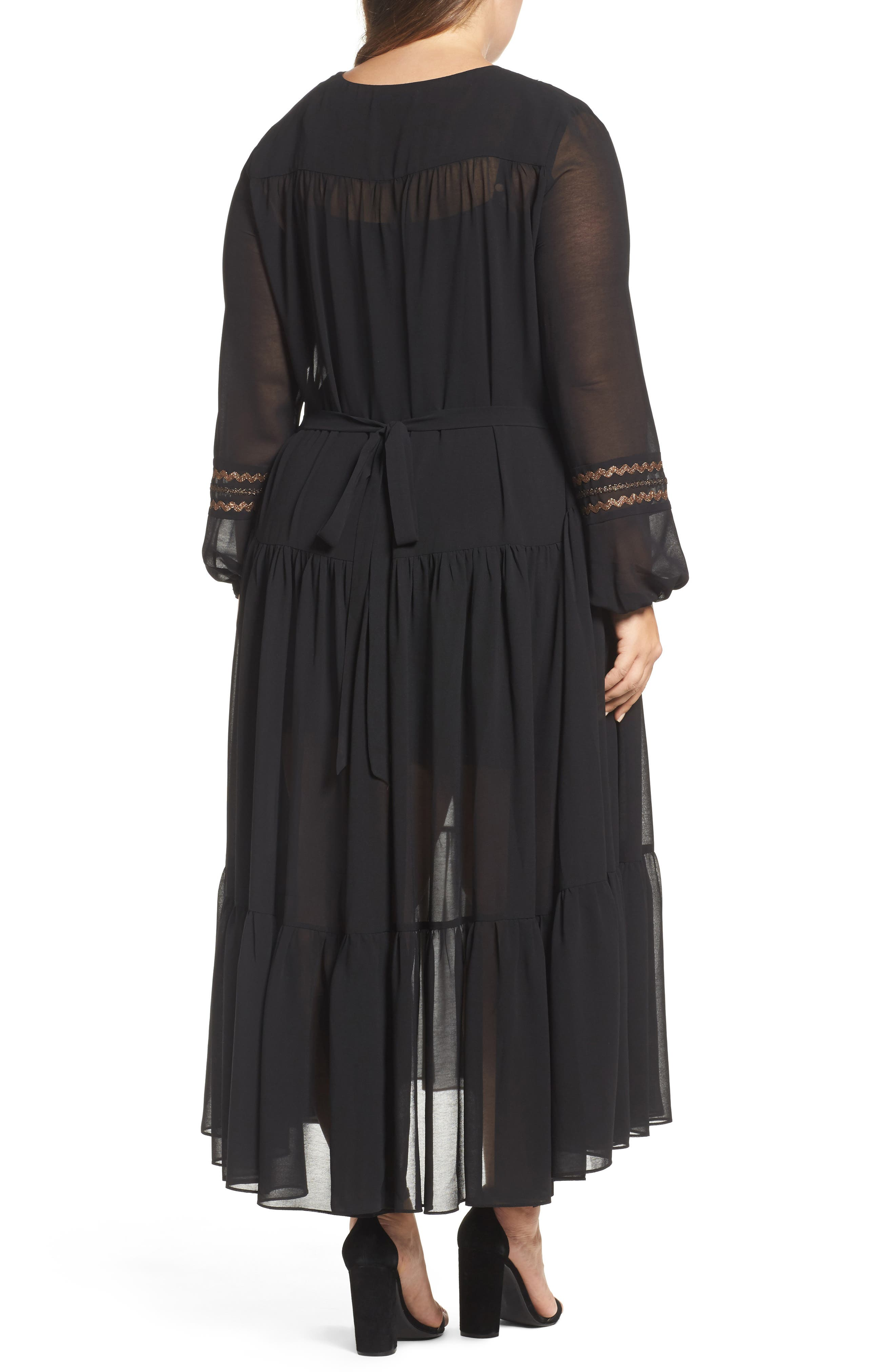 Maxi Dress,                             Alternate thumbnail 2, color,                             Black
