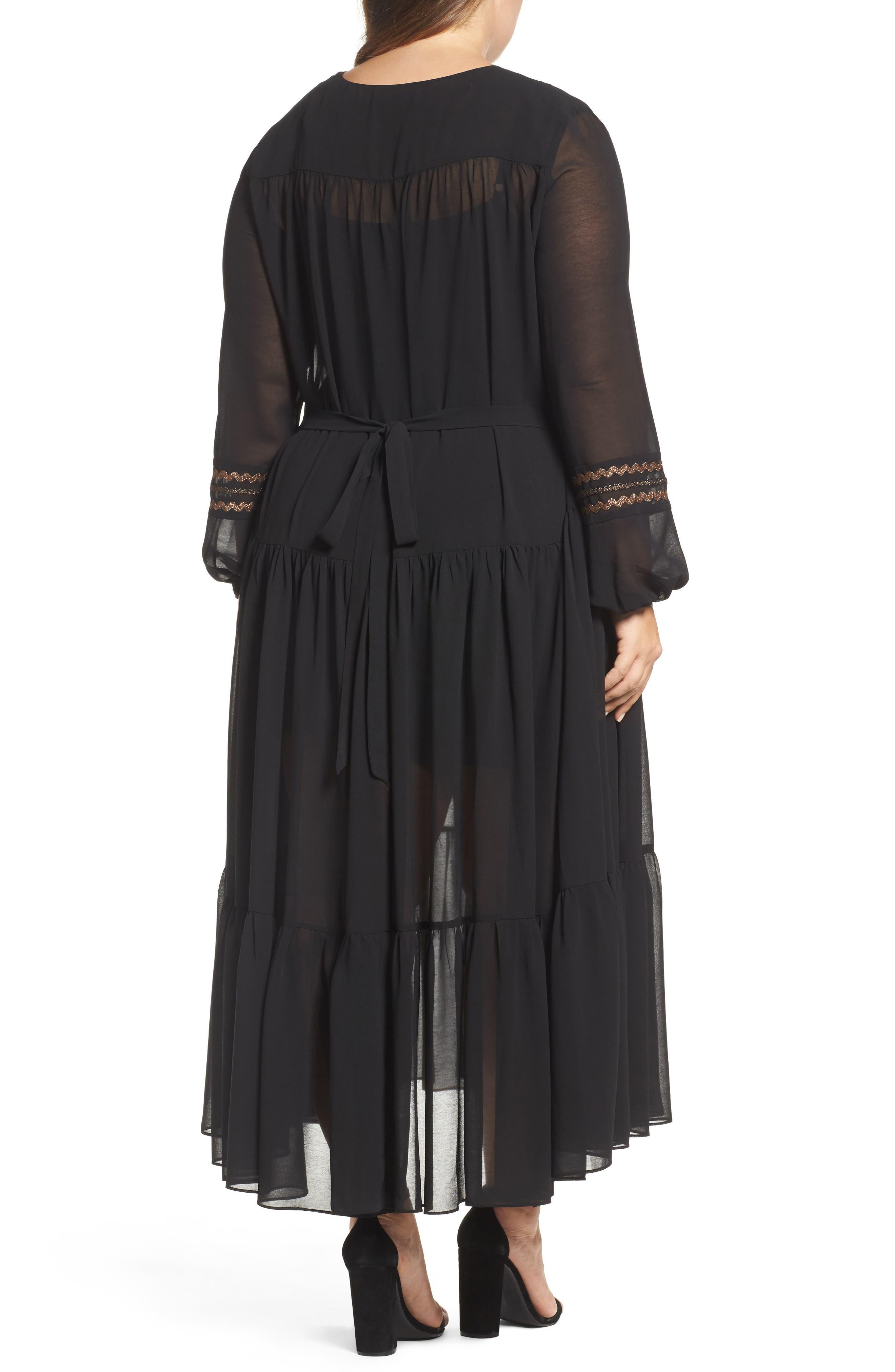 Alternate Image 2  - ELVI Maxi Dress (Plus Size)