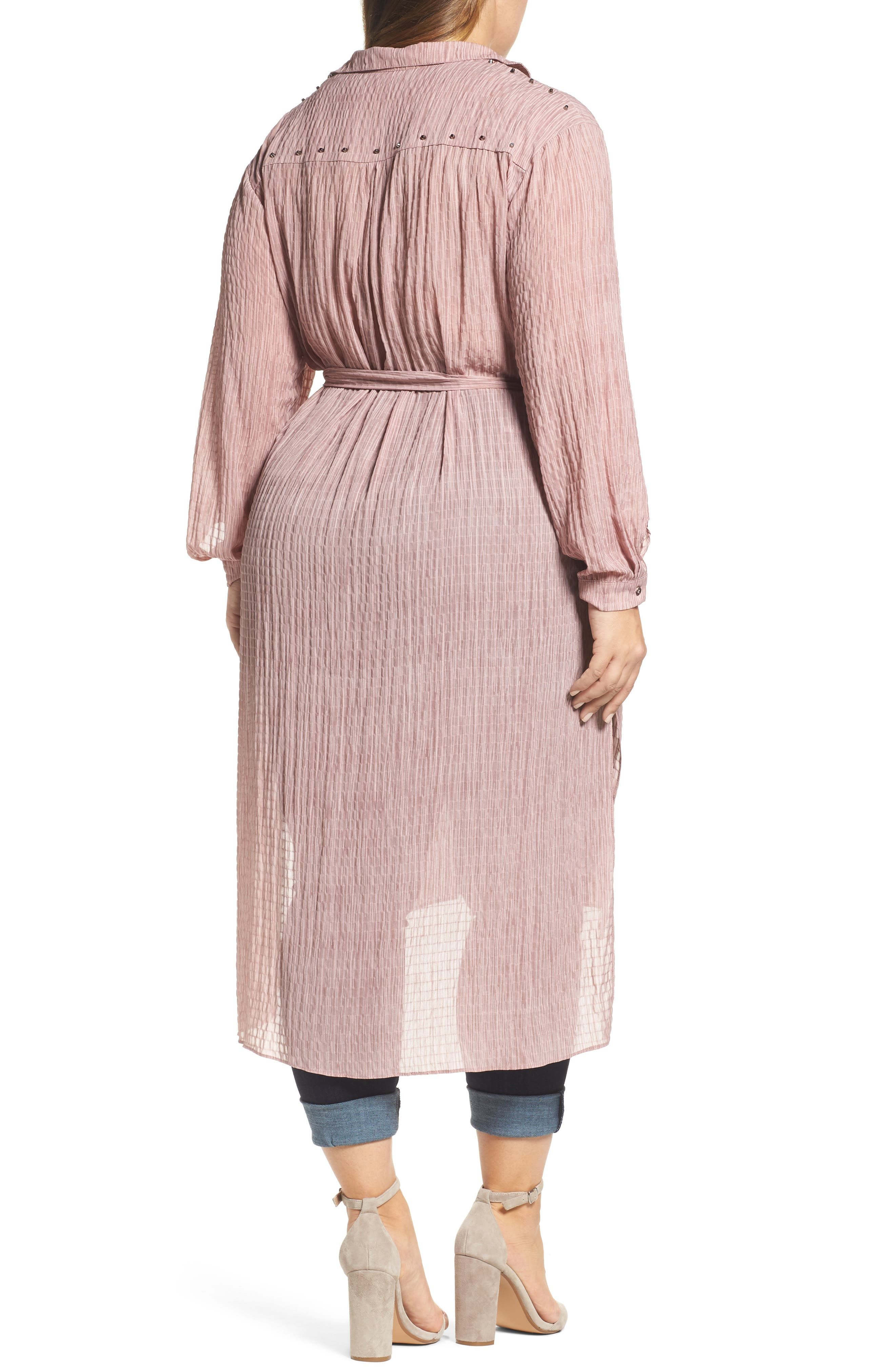 High/Low Shirtdress,                             Alternate thumbnail 2, color,                             Pink