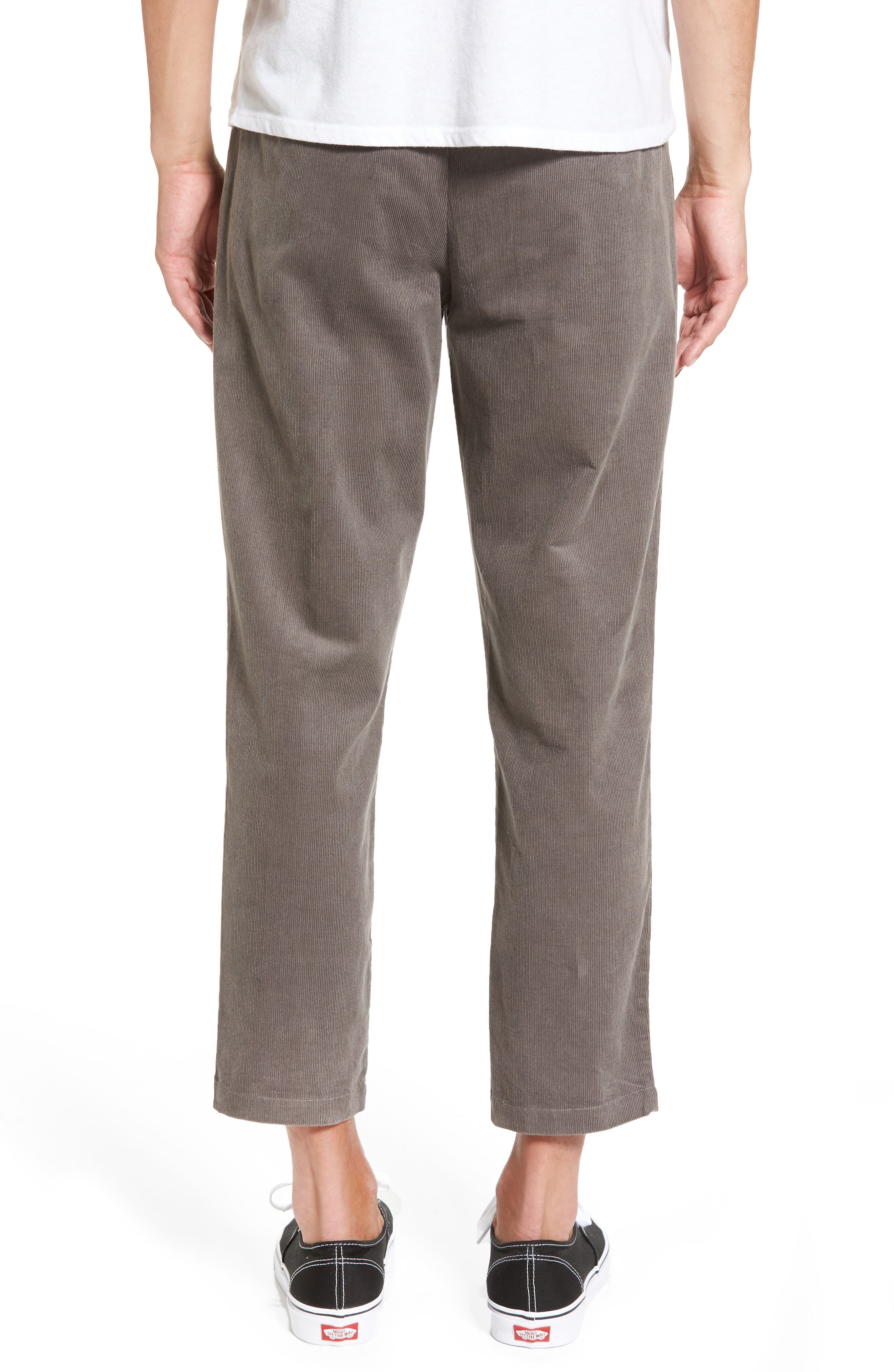 Astbury Crop Corduroy Pants,                             Alternate thumbnail 2, color,                             Grey