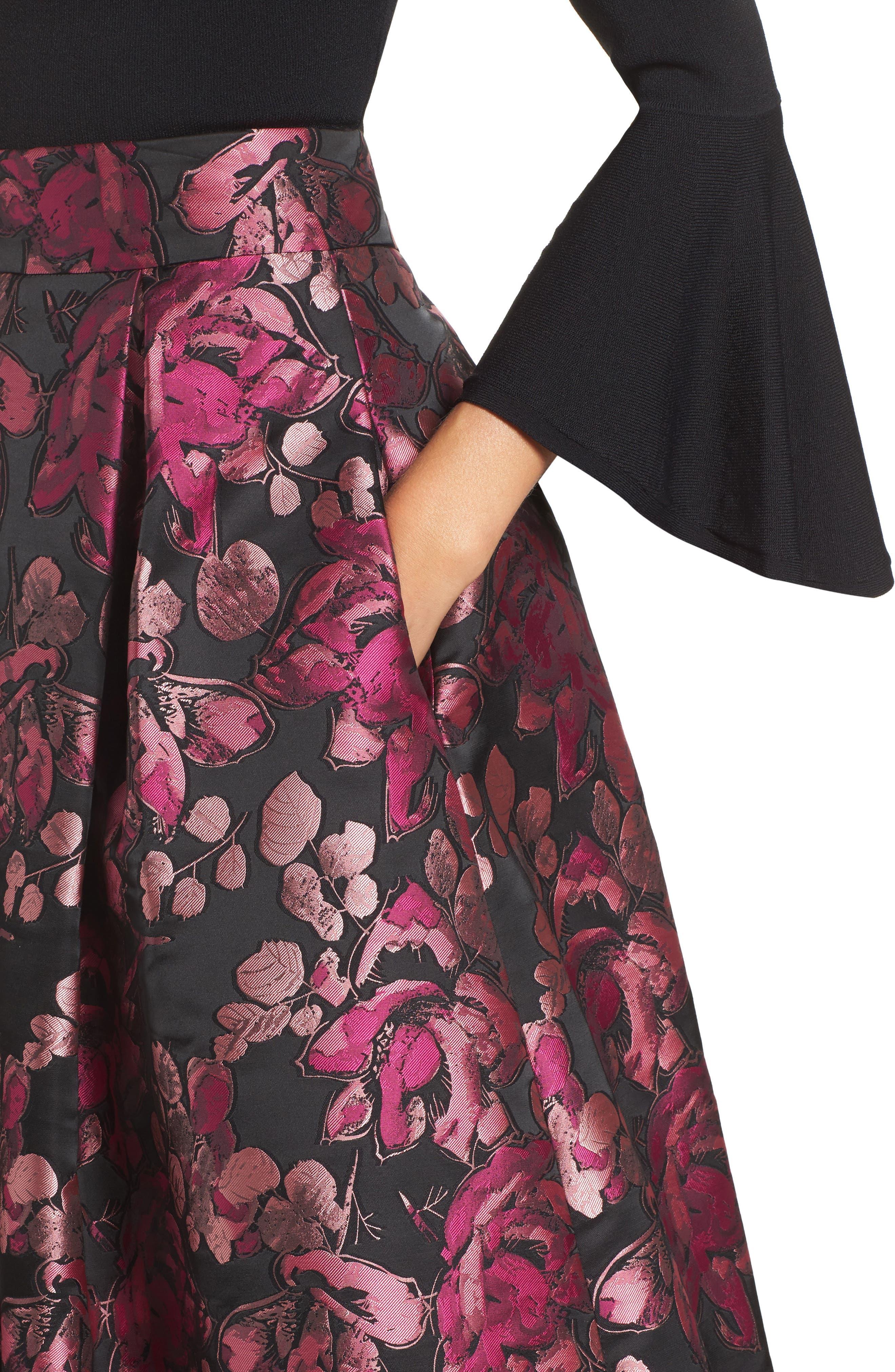 Alternate Image 4  - Eliza J Floral Jacquard Midi Skirt