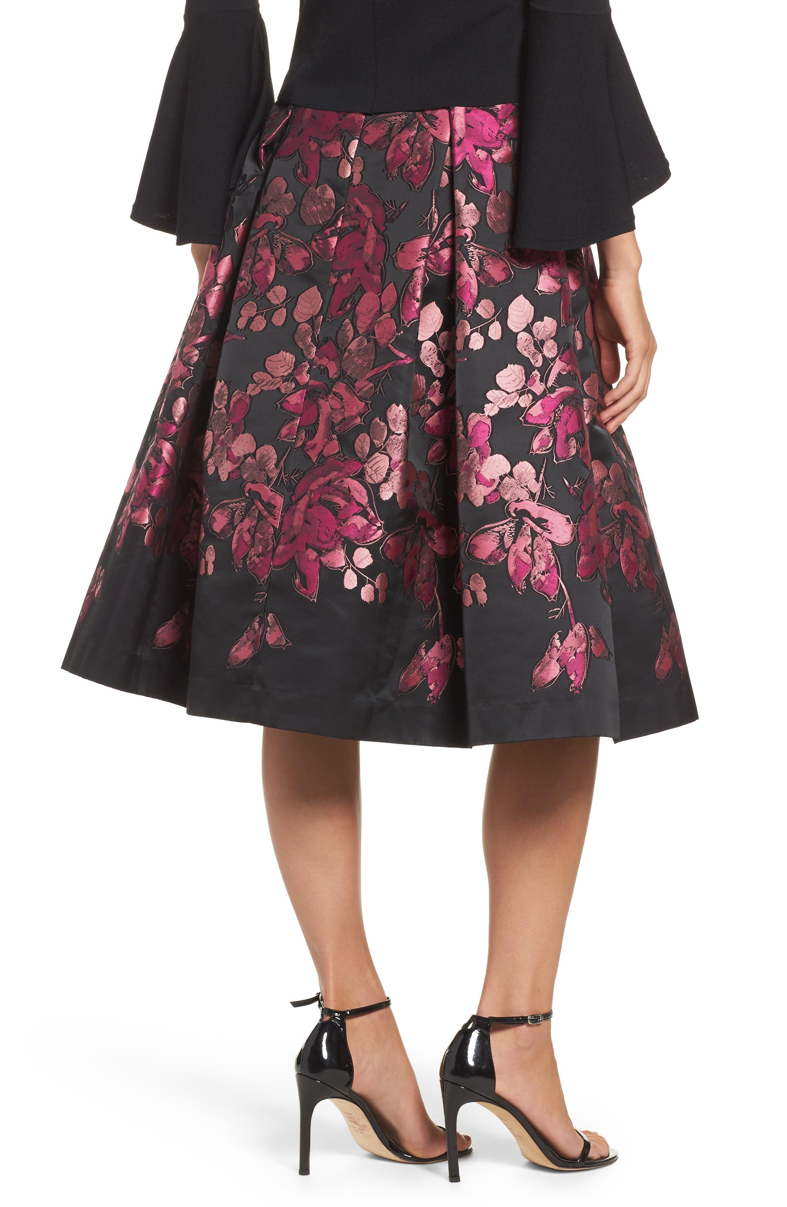 Alternate Image 2  - Eliza J Floral Jacquard Midi Skirt