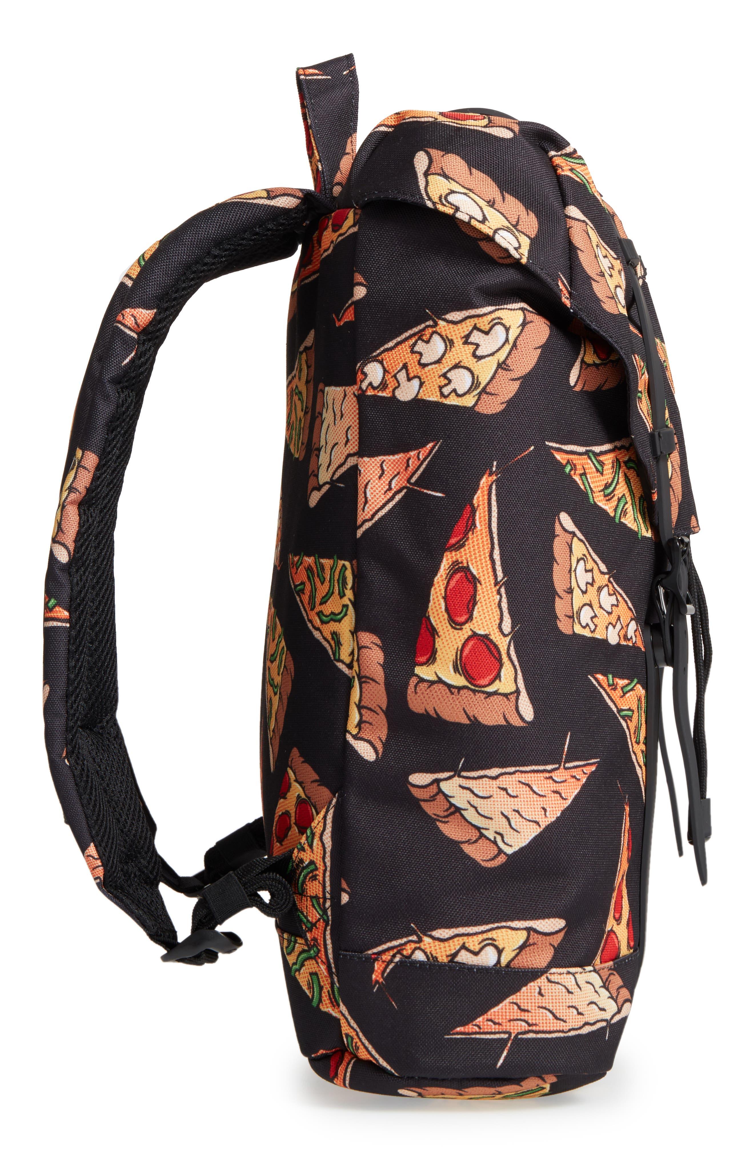 Retreat Backpack,                             Alternate thumbnail 4, color,                             Black Pizza