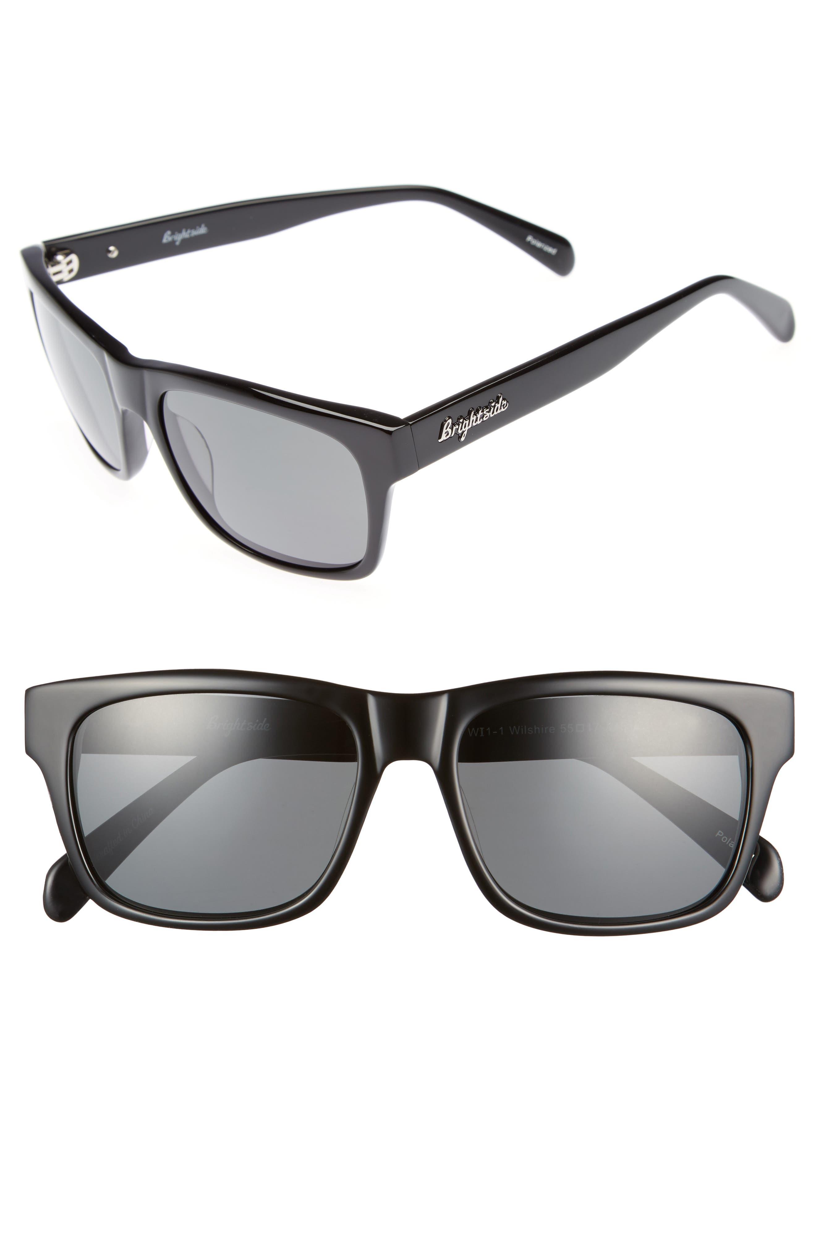 Main Image - Brightside Wilshire 55mm Polarized Sunglasses