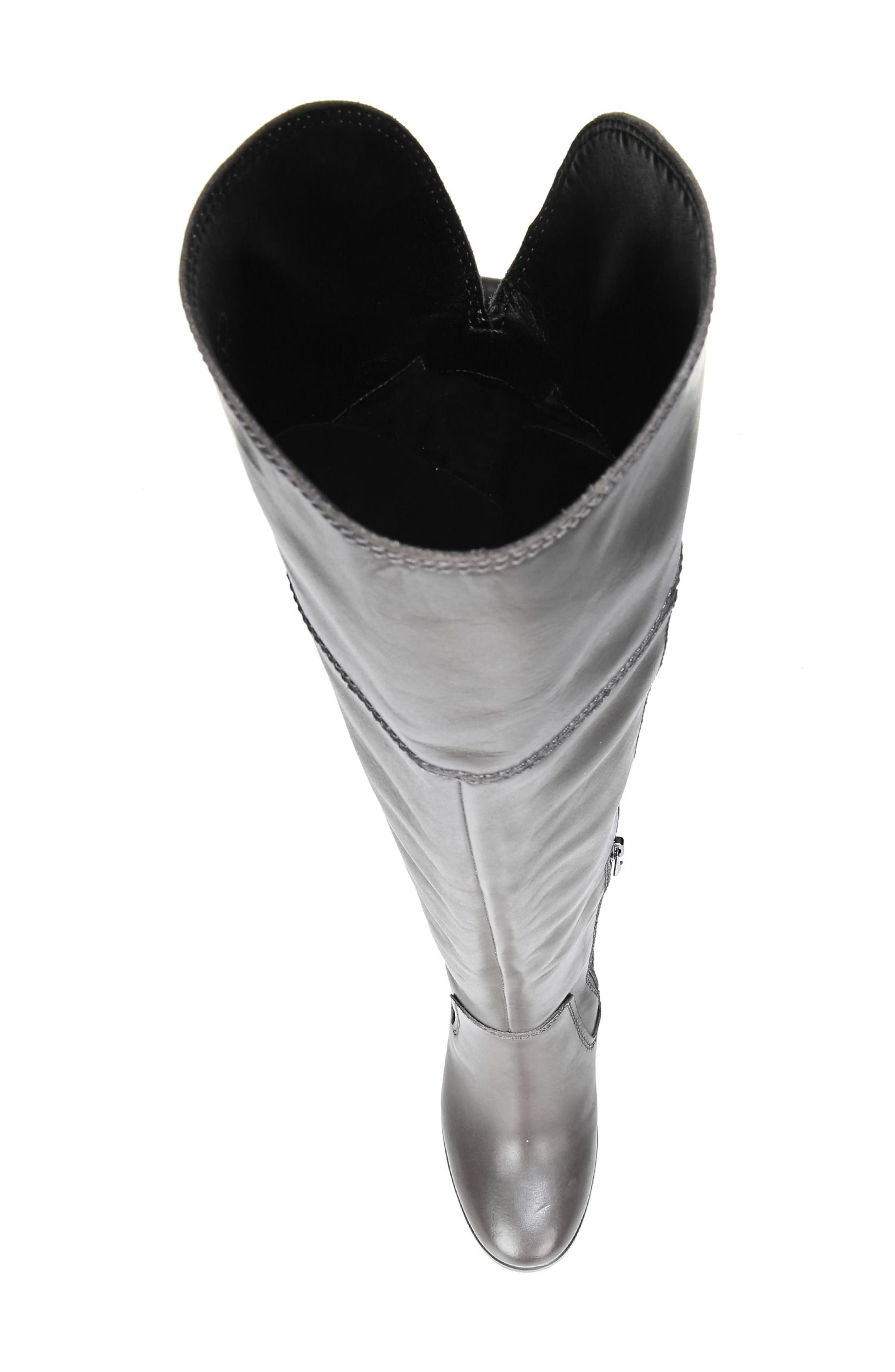 Freda Over the Knee Boot,                             Alternate thumbnail 5, color,                             Peat Leather