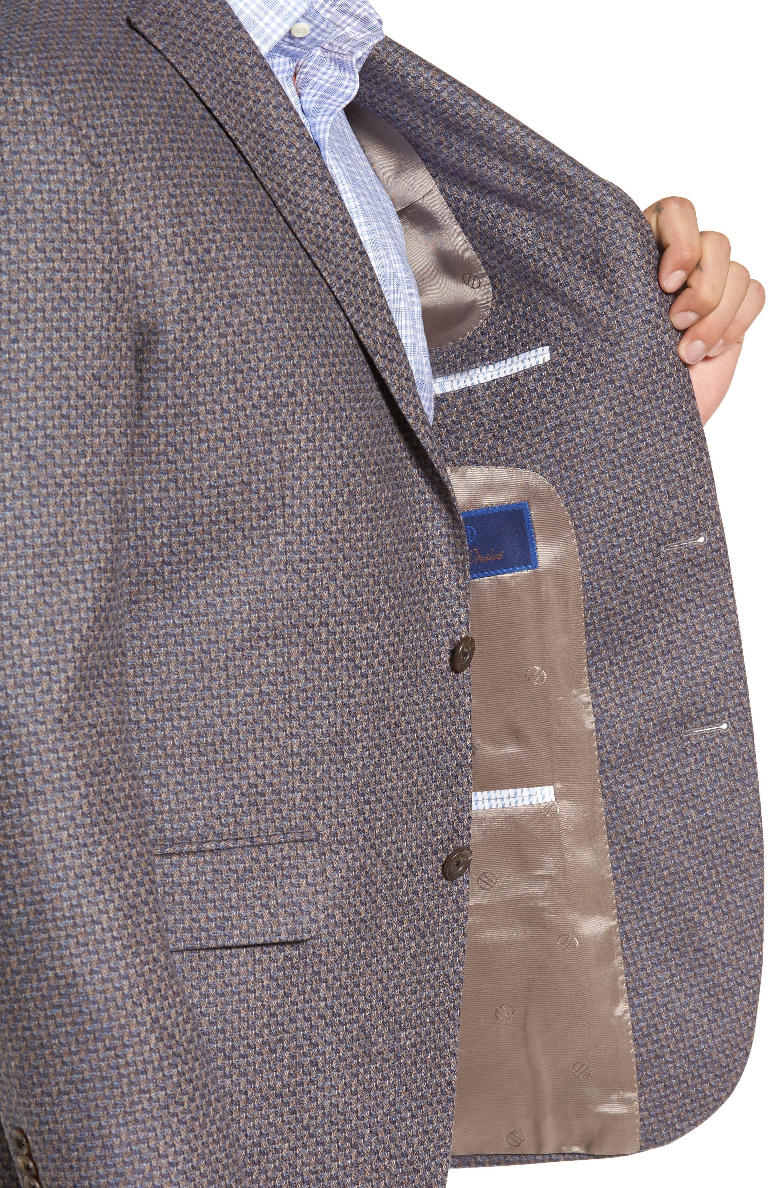 Alternate Image 4  - David Donahue Connor Classic Fit Wool Sport Coat