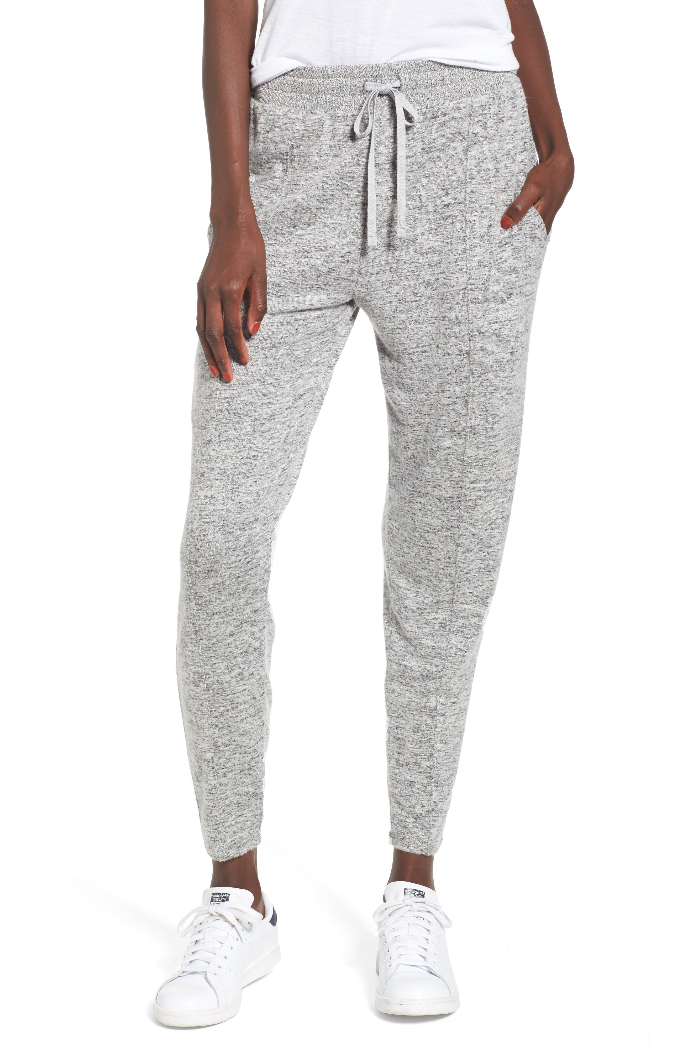 Hacci Knit Joggers,                         Main,                         color, Grey Medium Heather