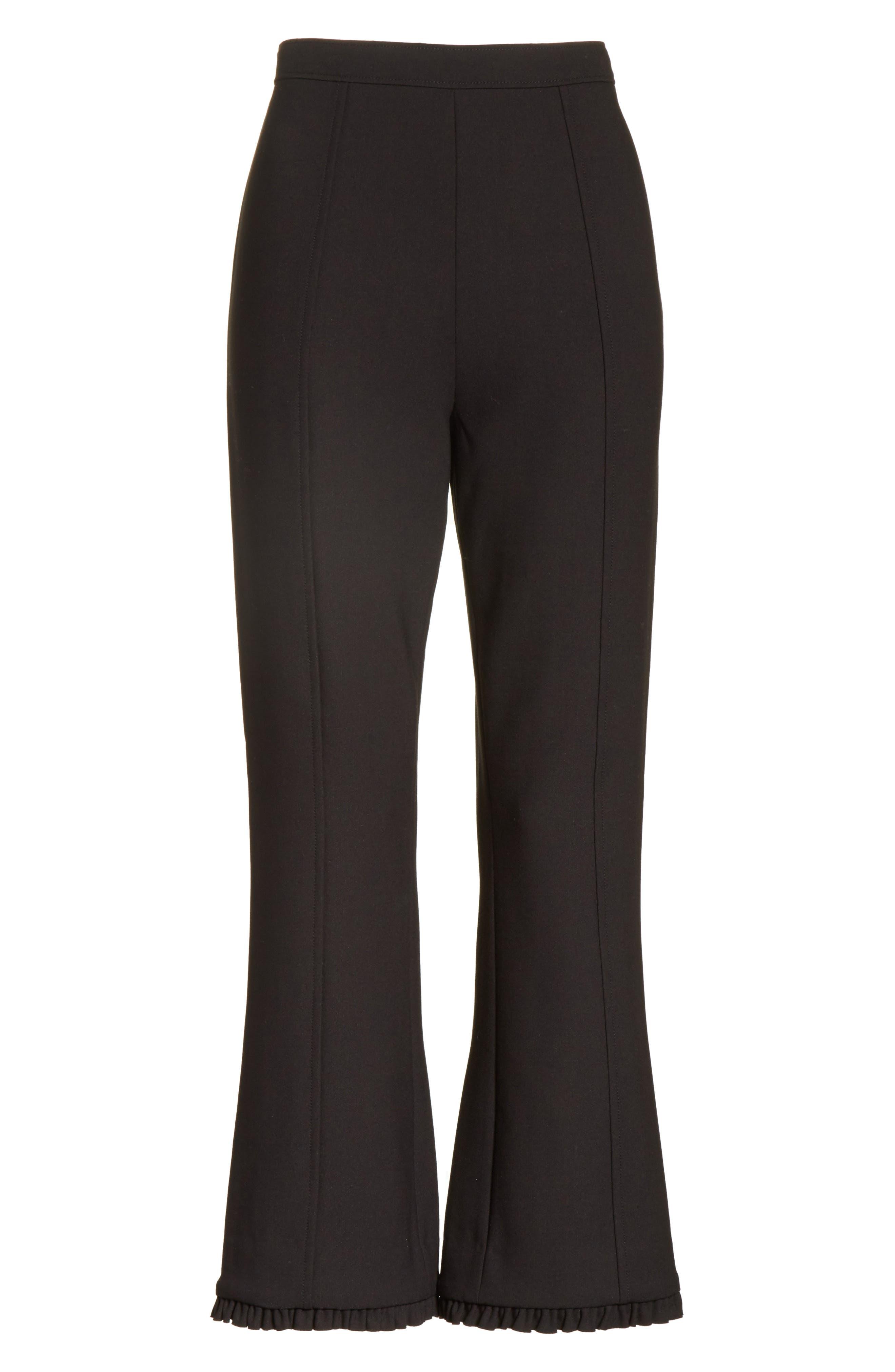 Seneca Flare Leg Crop Pants,                             Alternate thumbnail 6, color,                             Black