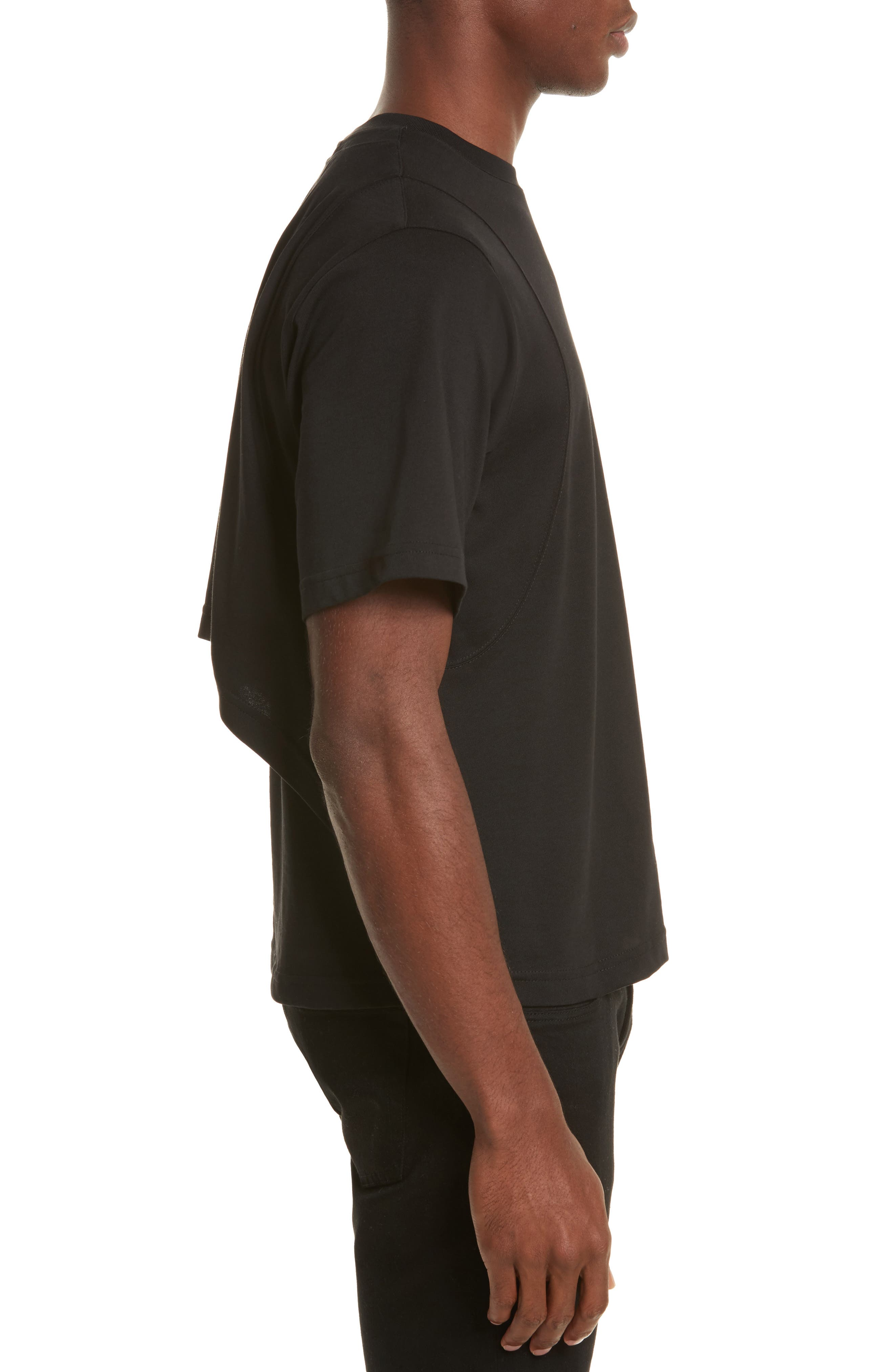 Alternate Image 3  - Helmut Lang Drape Military Jersey T-Shirt