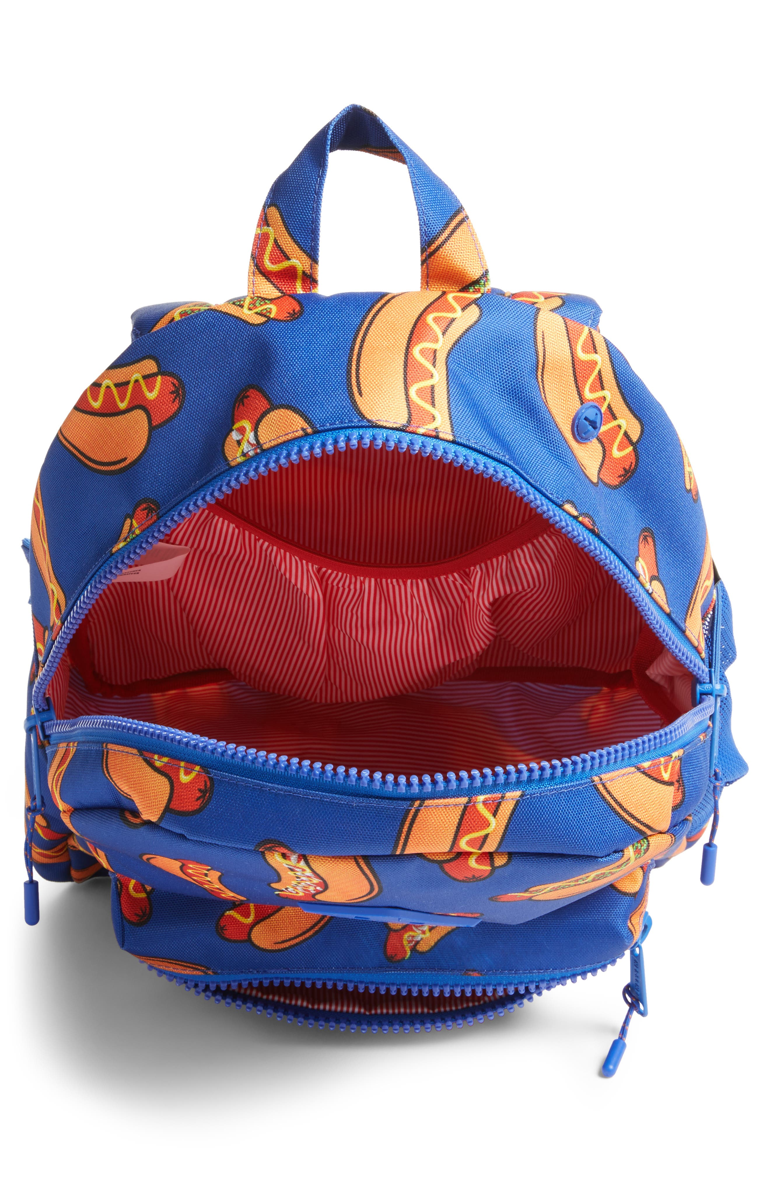 Herschell Supply Co. Heritage Hotdog Print Backpack,                             Alternate thumbnail 4, color,                             Surf The Web Hot Dogs/ Rubber