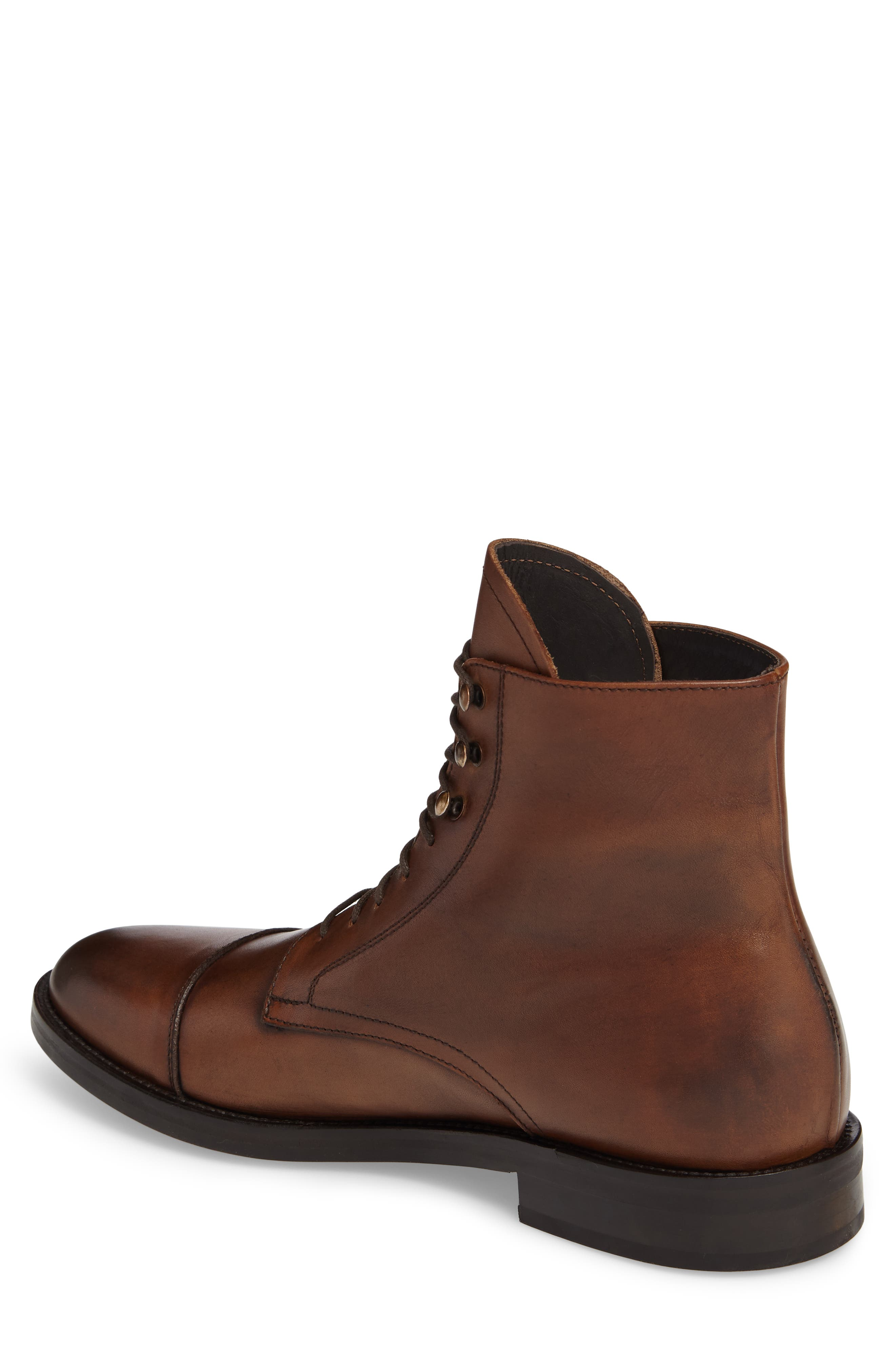 Henri Cap Toe Boot,                             Alternate thumbnail 2, color,                             Cuoio Leather