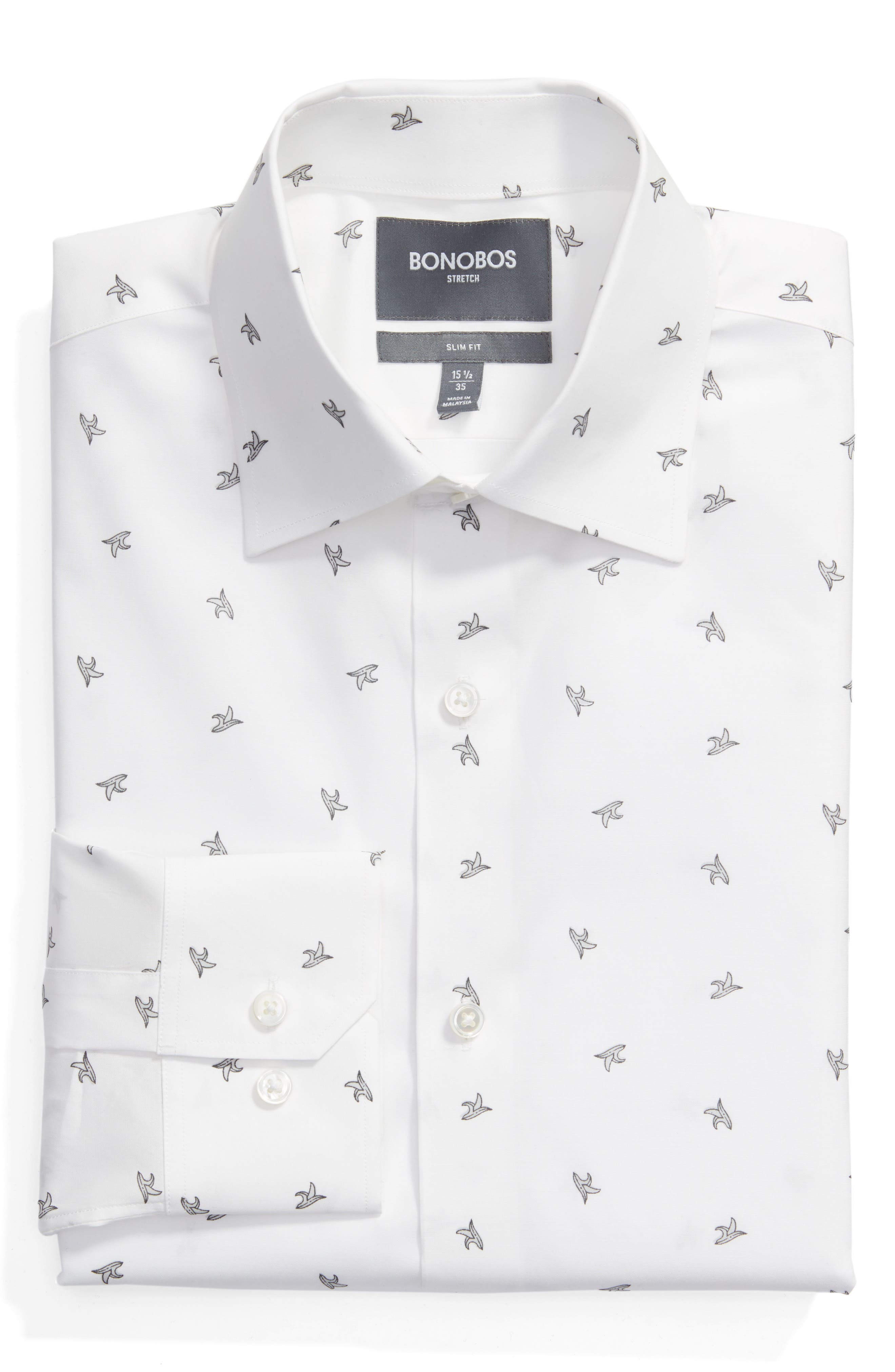 Main Image - Bonobos Slim Fit Banana Print Dress Shirt