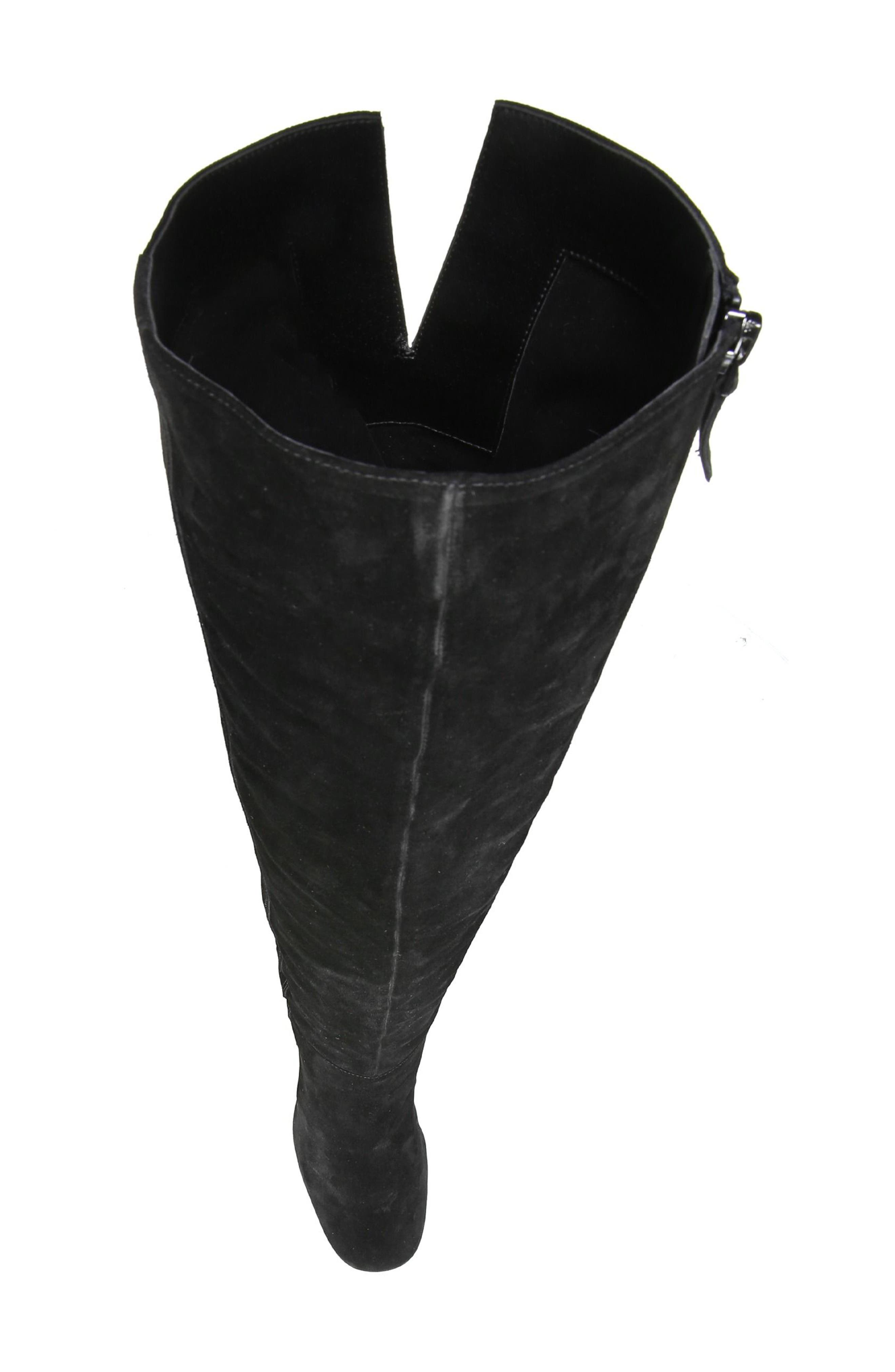 Laurel Over the Knee Boot,                             Alternate thumbnail 5, color,                             Black Suede