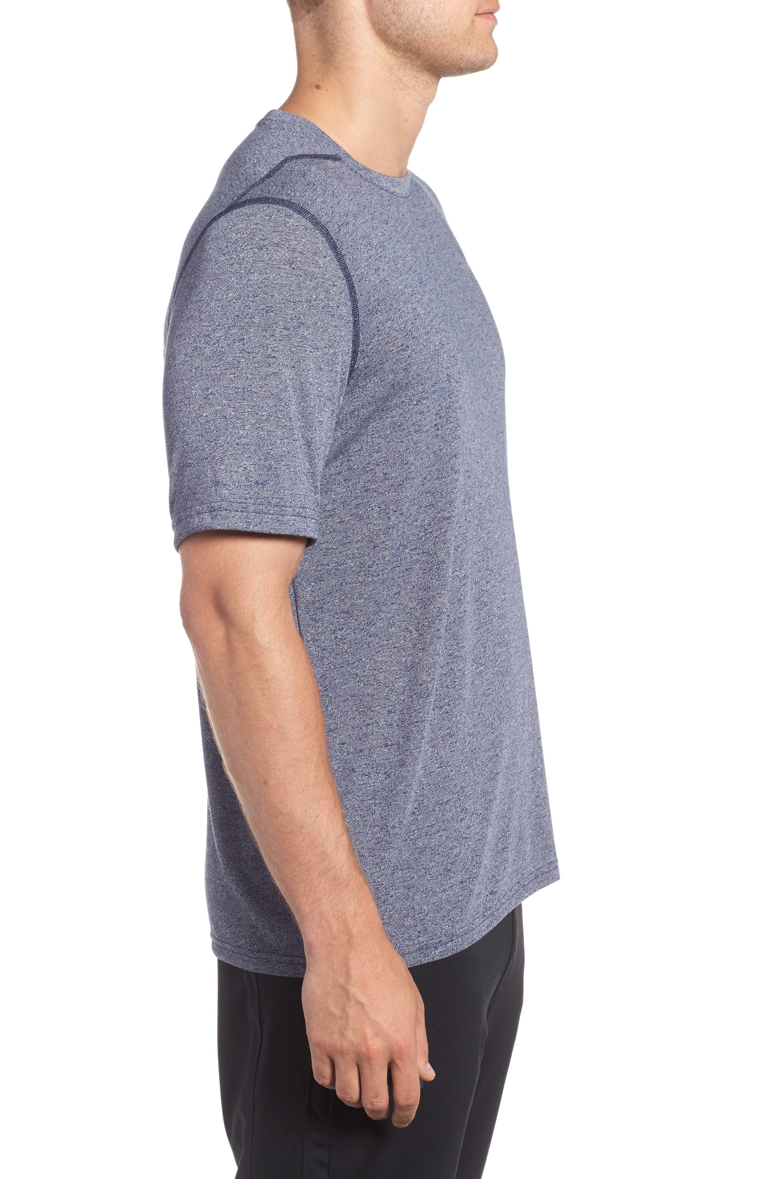 Regular Fit Threadborne T-Shirt,                             Alternate thumbnail 3, color,                             Midnight
