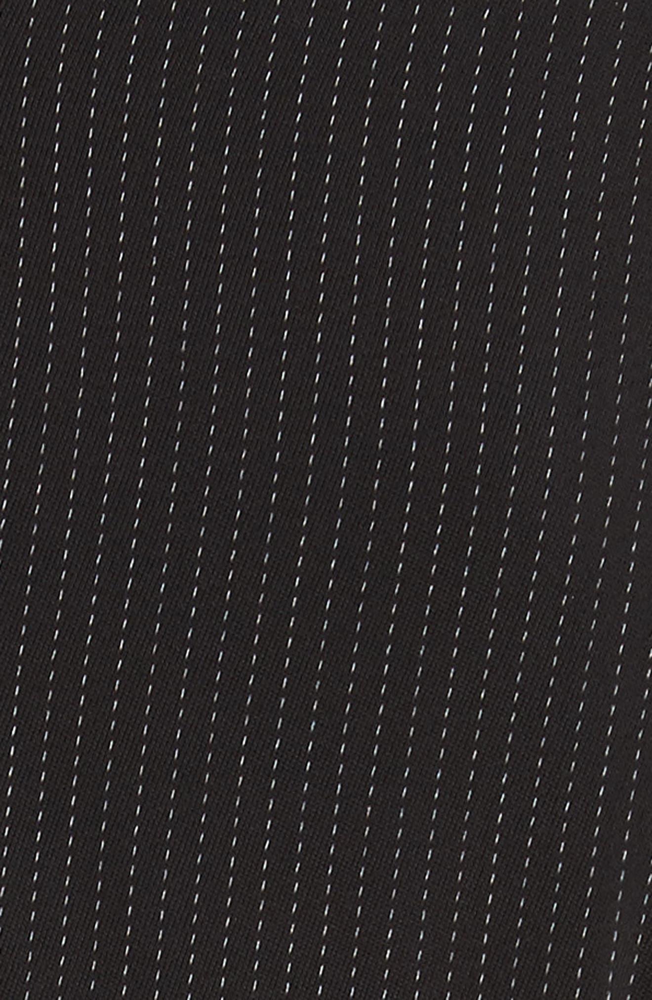 Pinstripe Jersey Sheath Dress,                             Alternate thumbnail 6, color,                             Black / Chalk