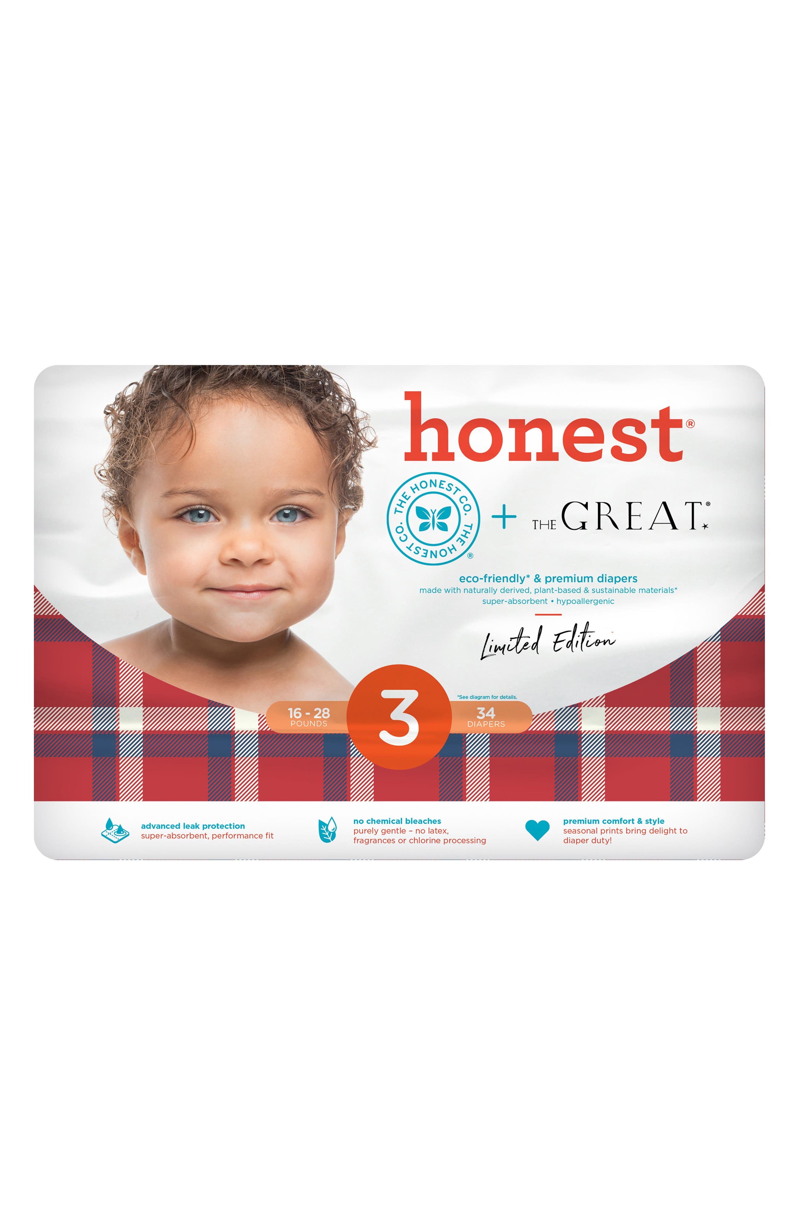 Alternate Image 2  - The Honest Company x THE GREAT. The Camper Plaid Diapers